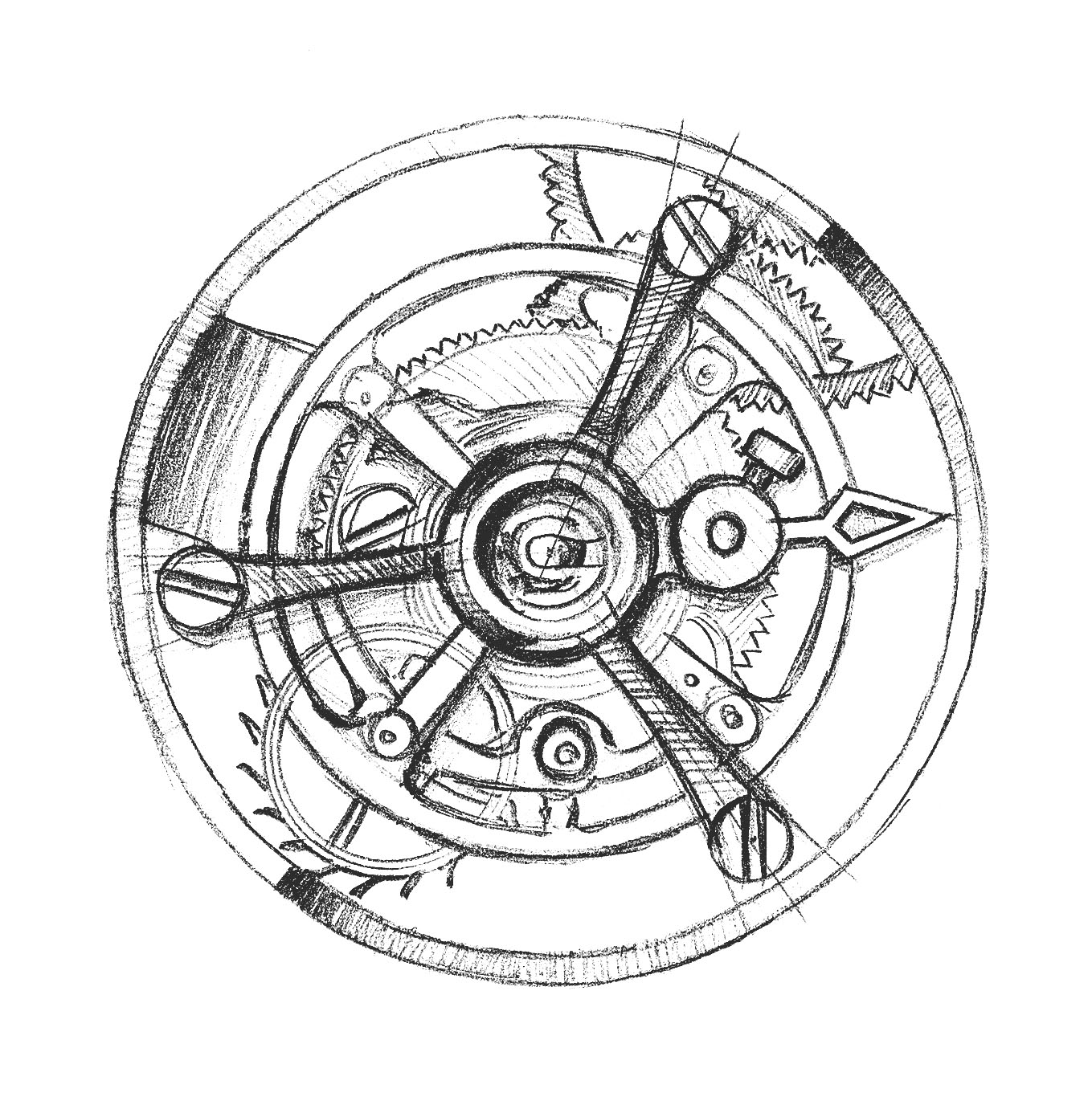 Sketch Chopard Flying Tourbillon