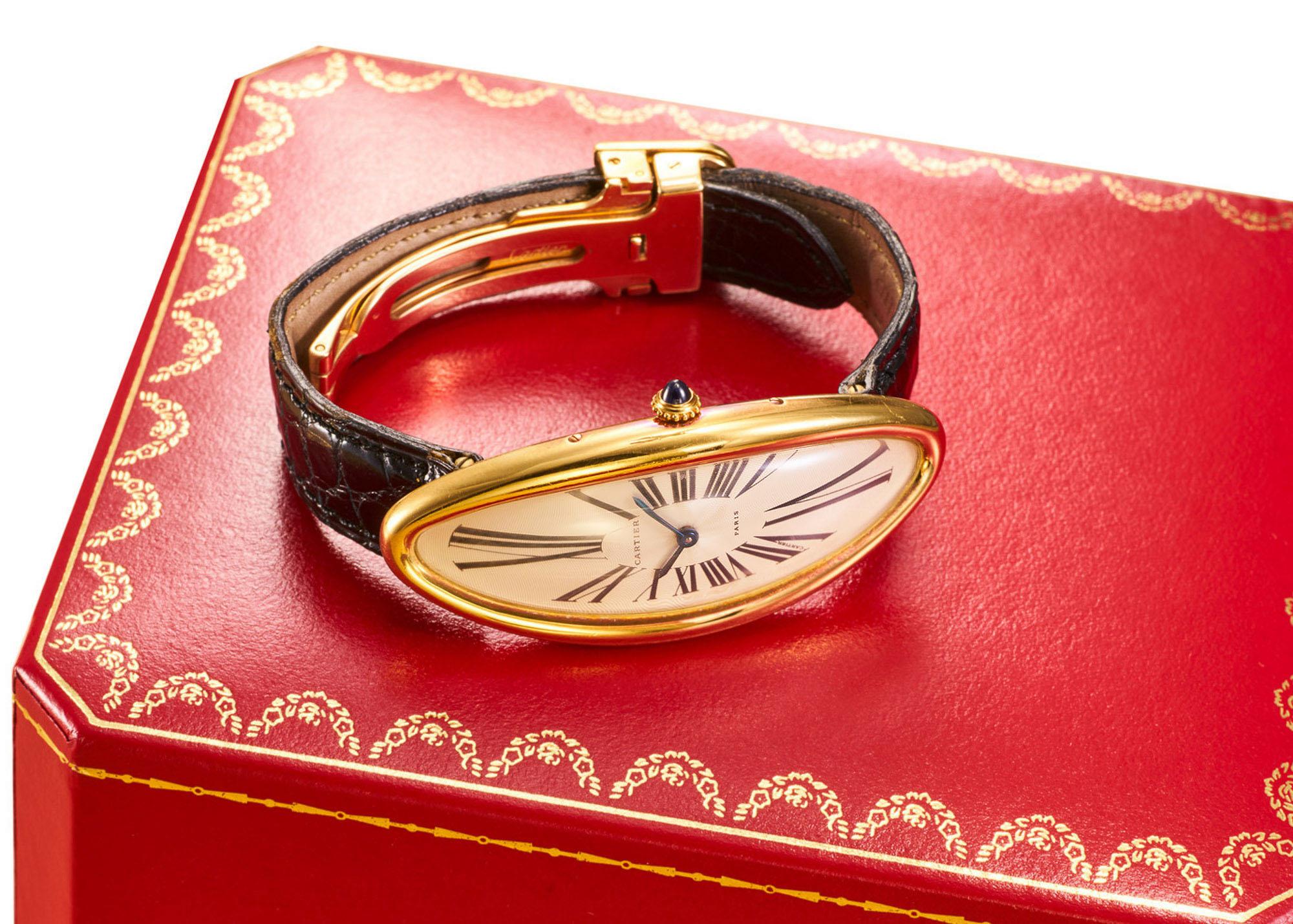 Antiquorum Auction May 2020 Cartier Baignoire Allongée Watch 1991
