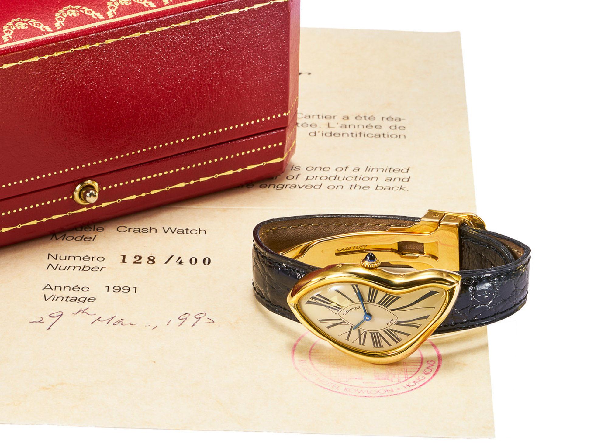 Antiquorum Auction May 2020 Cartier Crash Watch 1991