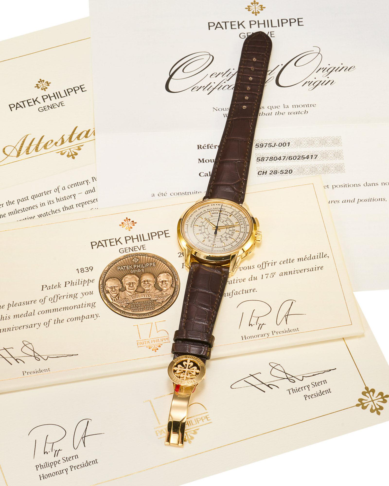 Antiquorum Auction May 2020 Patek Philippe Ref. 5975J Chronograph 175th Anniversary