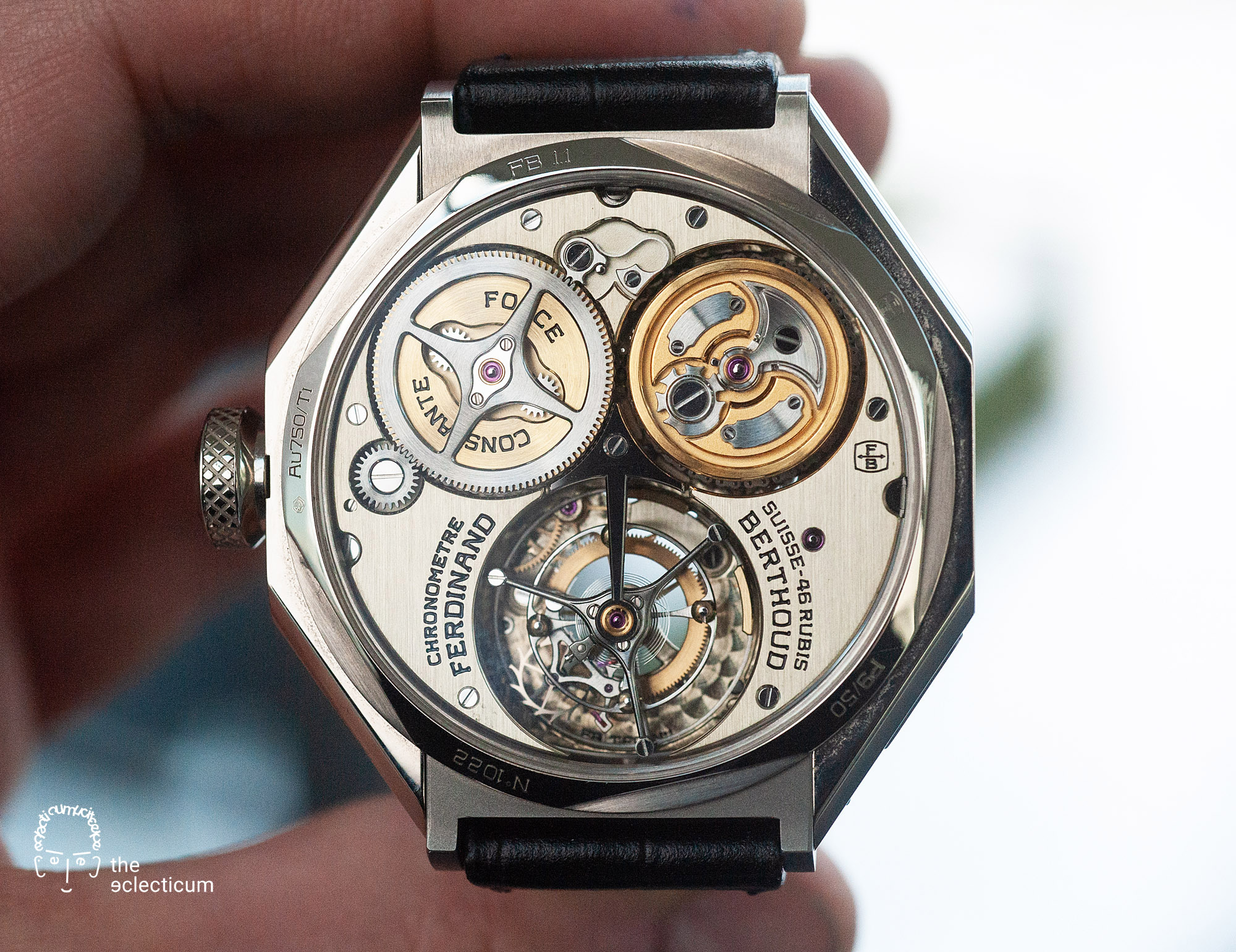 Ferdinand Berthoud Chronometry FB 1 chronometer tourbillon movement