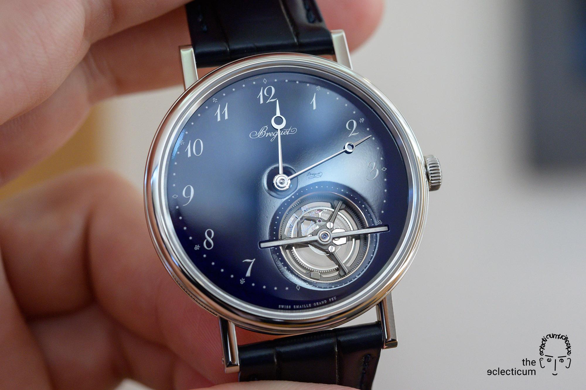 Breguet Classique Tourbillon Extra-Plat Blue Ref. 5367PT Grand Feu Enamel