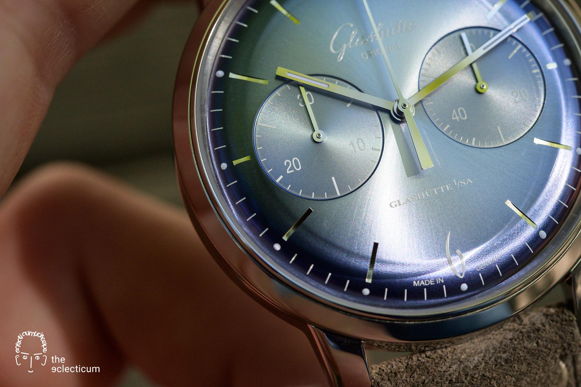 Glashütte Original Sixties Annual Edition 2020 Glacier Blue Chronograph dial