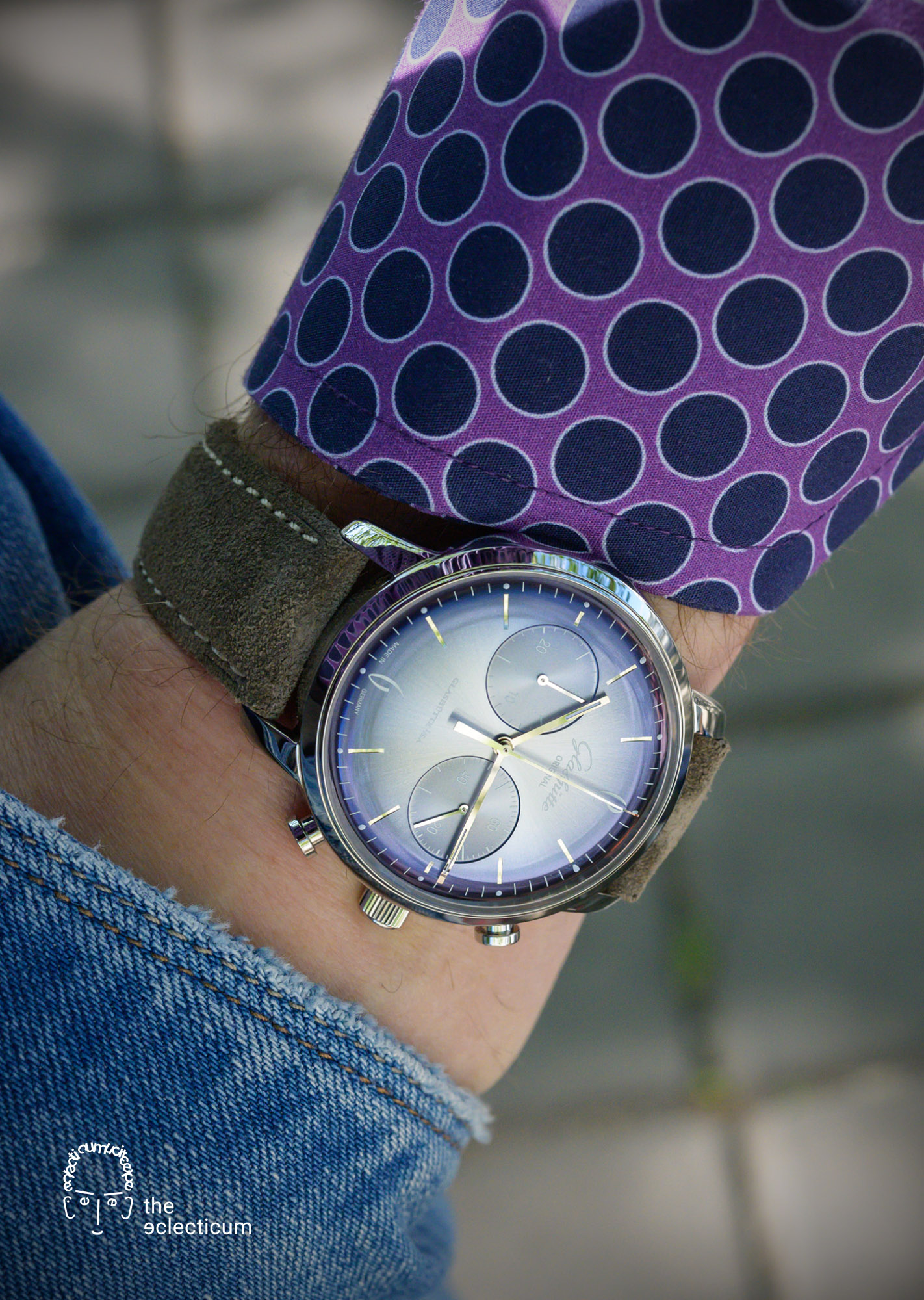 Glashütte Original Sixties Annual Edition 2020 Glacier Blue Chronograph wristshot