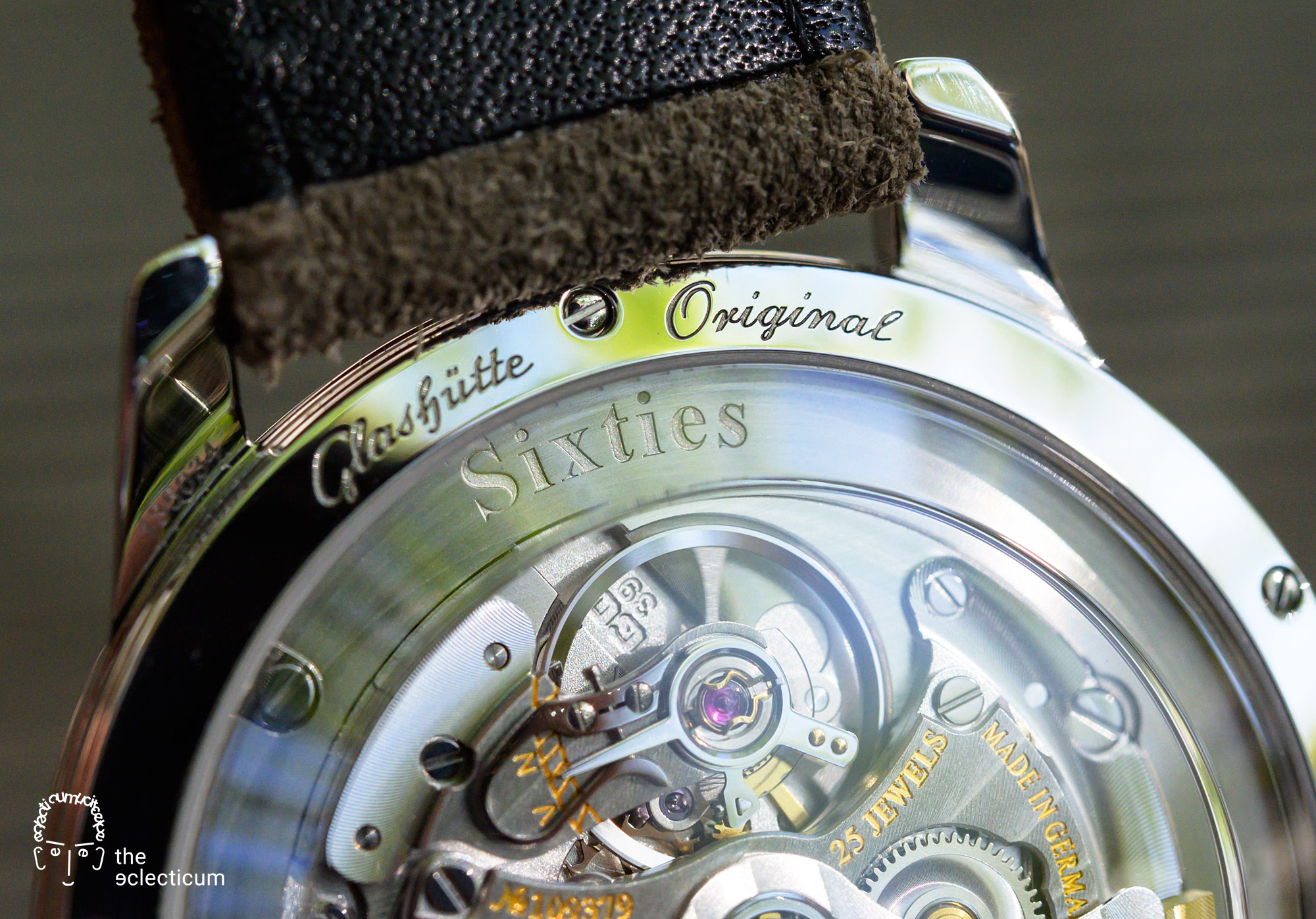 Glashütte Original Sixties Annual Edition 2020 Glacier Blue Time Only movement Cal. 39-52 display back
