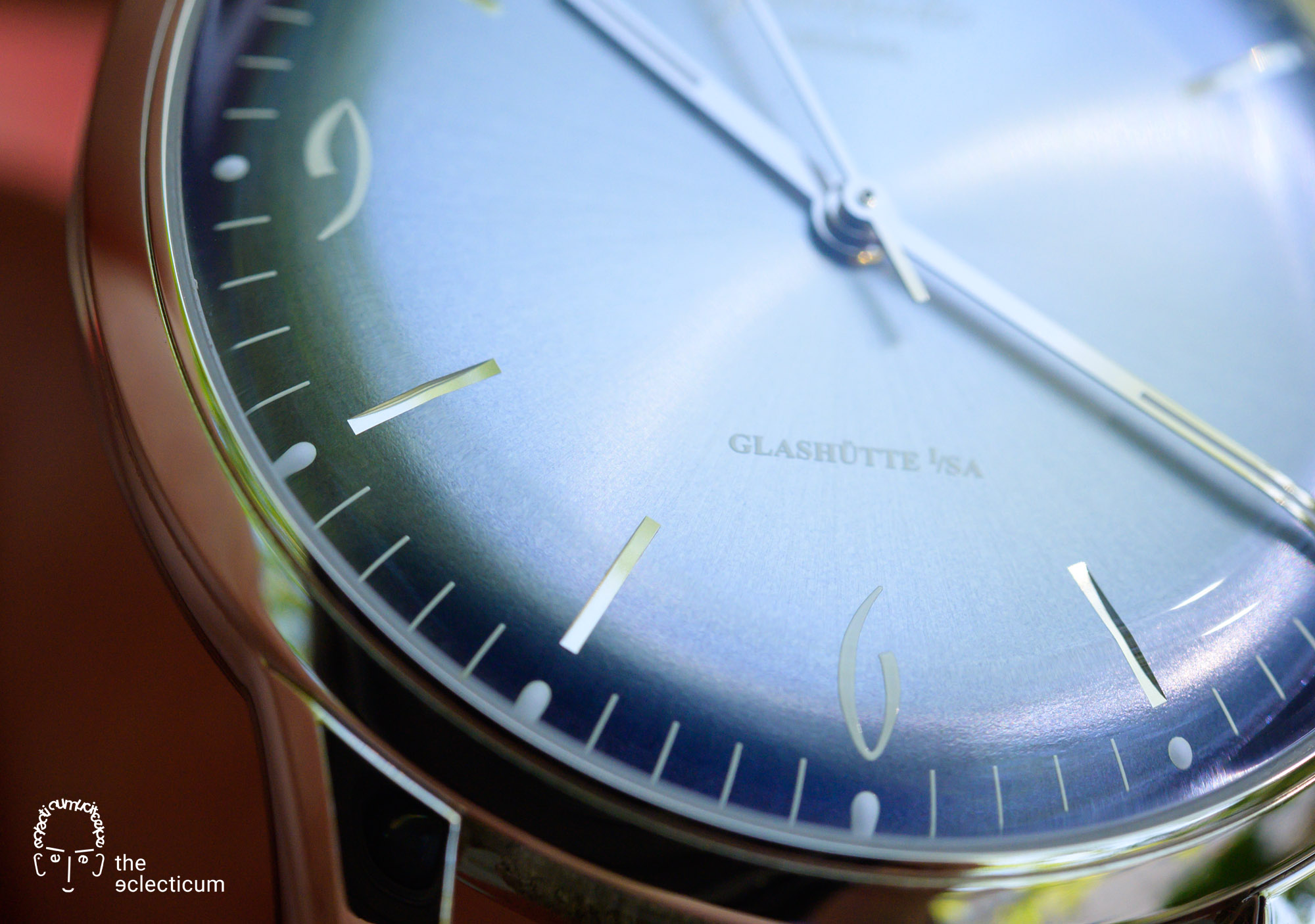 Glashütte Original Sixties Annual Edition 2020 Glacier Blue Time Only dial detail