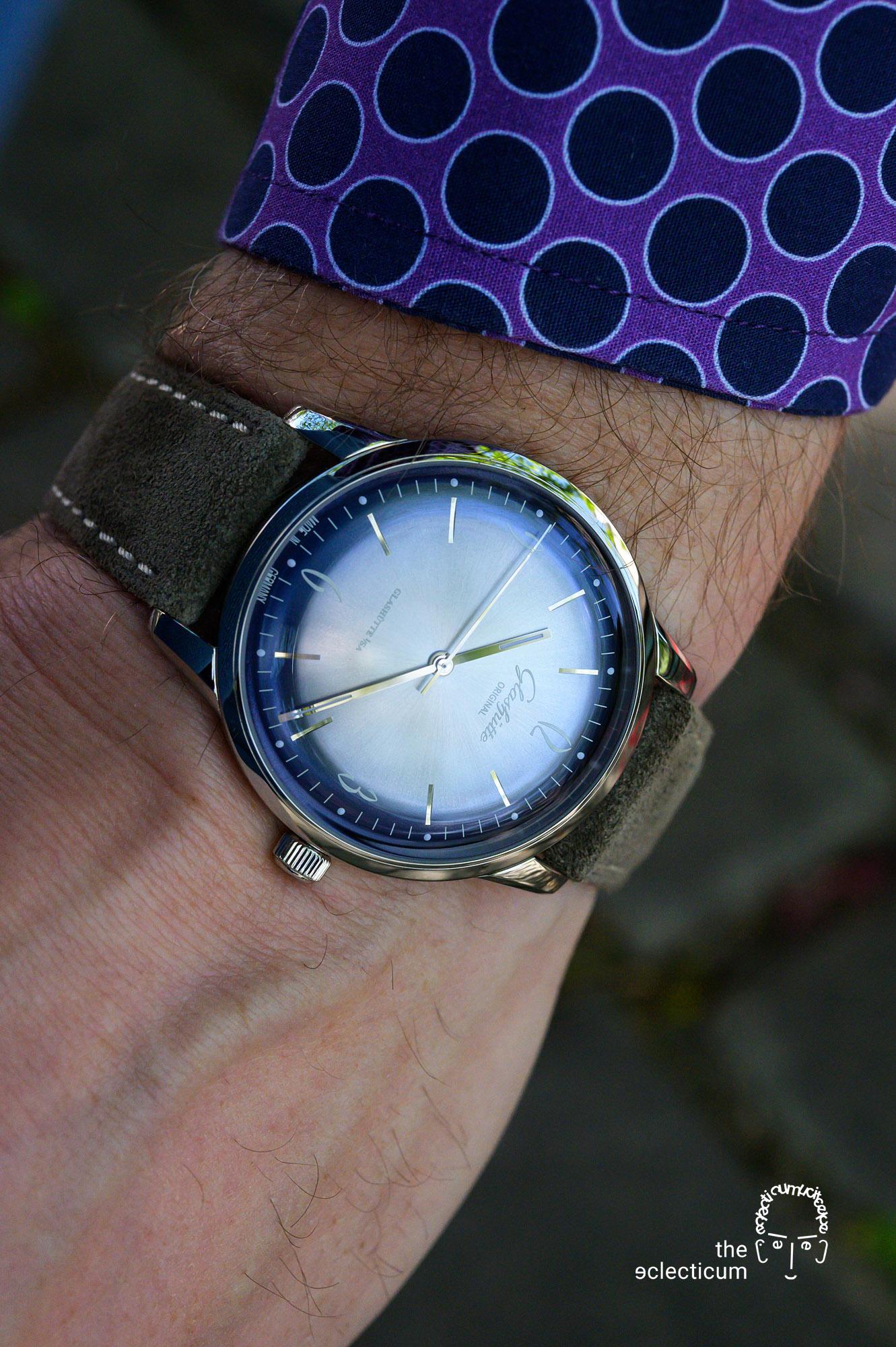 Glashütte Original Sixties Annual Edition 2020 Glacier Blue Time Only wristshot