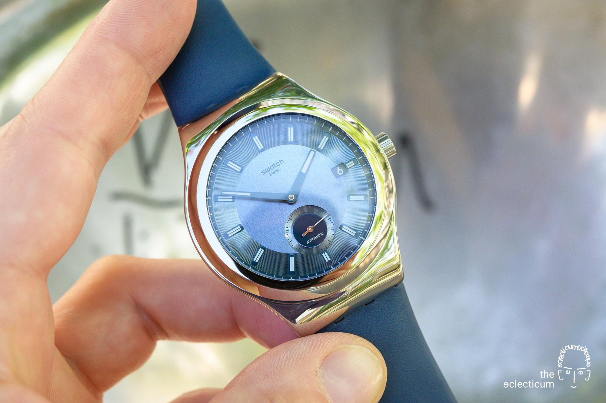 Swatch Sistem51 Petite Seconde automatic blue dial