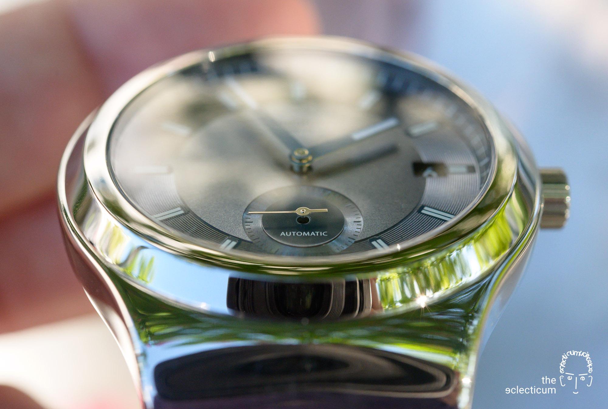 Swatch Sistem51 Petite Seconde automatic blue dial detail
