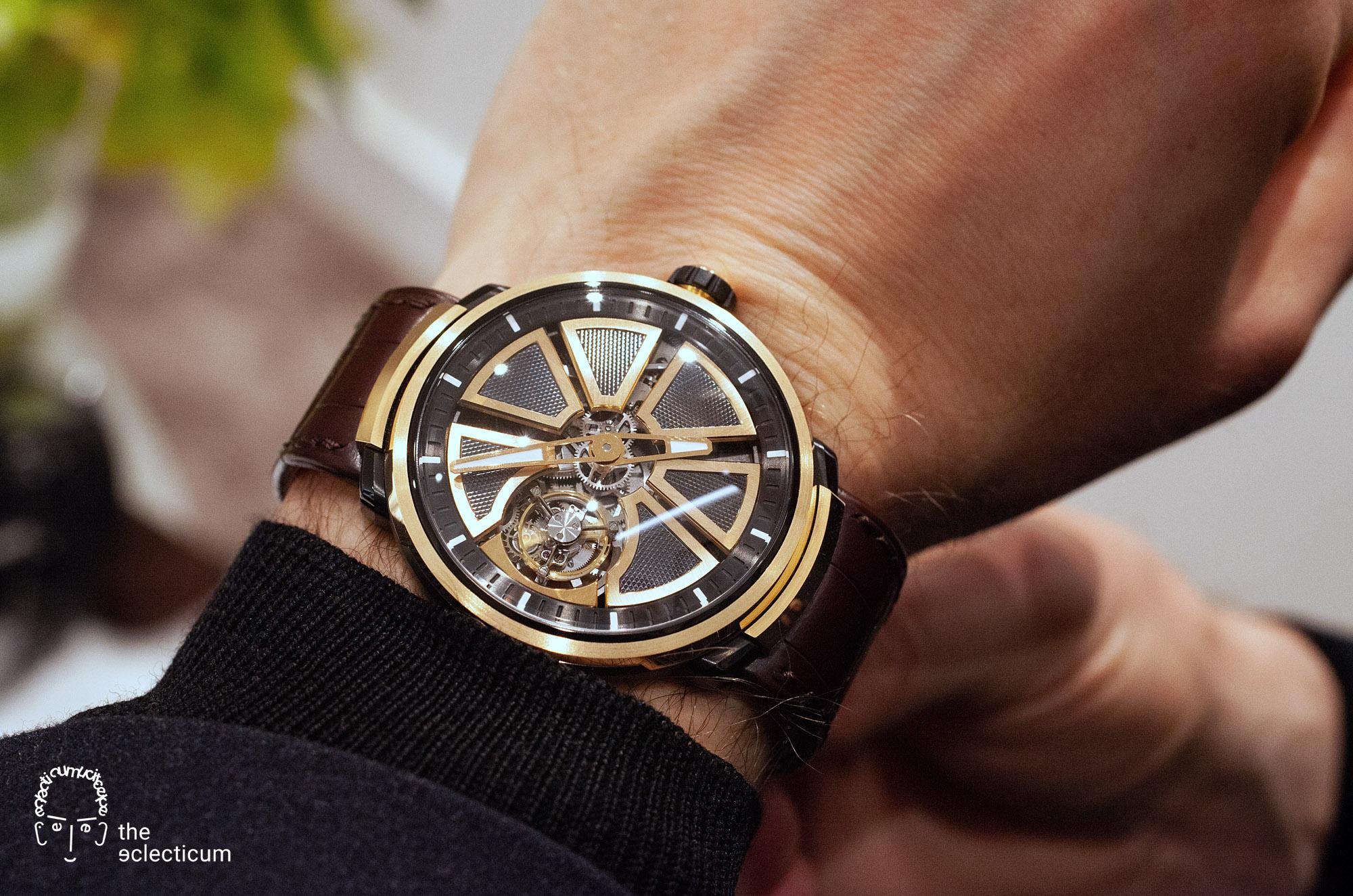 Faberge Visionnaire Tourbillon flying Renaud Papi guillochage wristshot