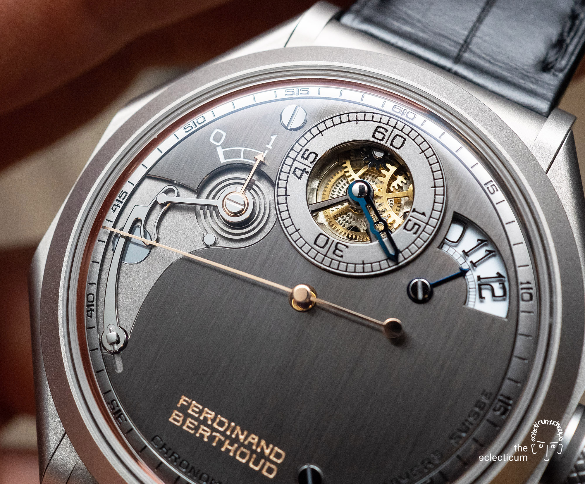 Ferdinand Berthoud Chronometry FB 1R chronometer dial heatblued steel hands
