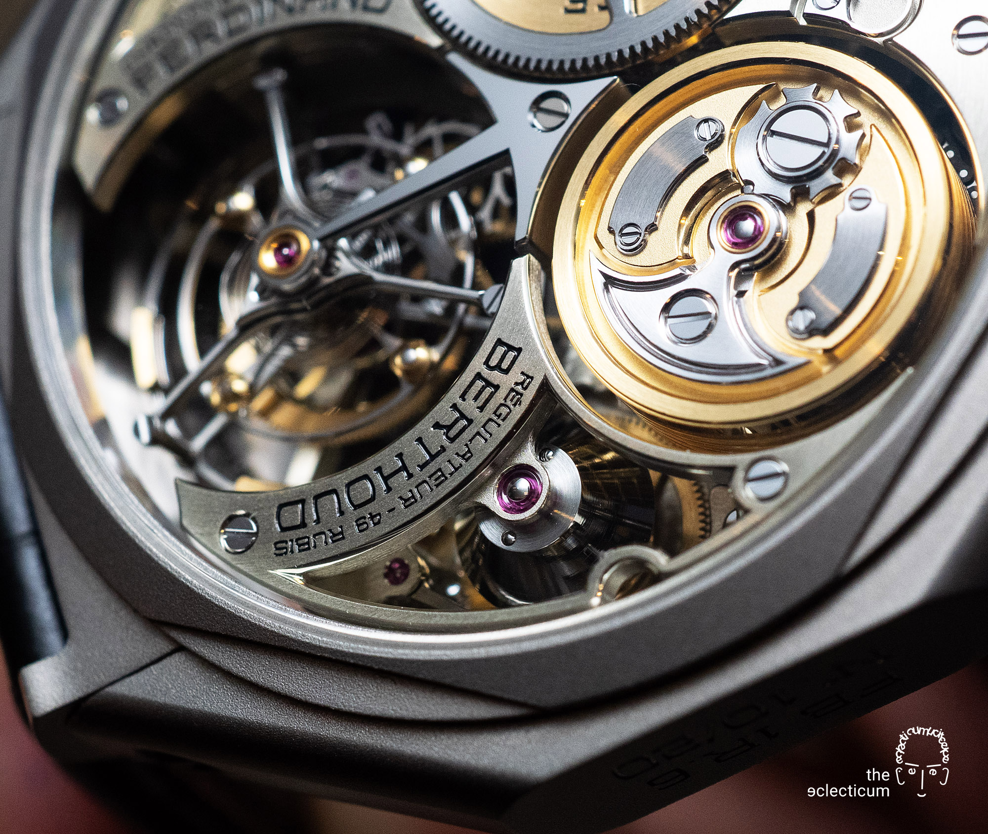 Ferdinand Berthoud Chronometry FB 1 chronometer fusee chain chaine tourbillon movement handfinishing bridge anglage
