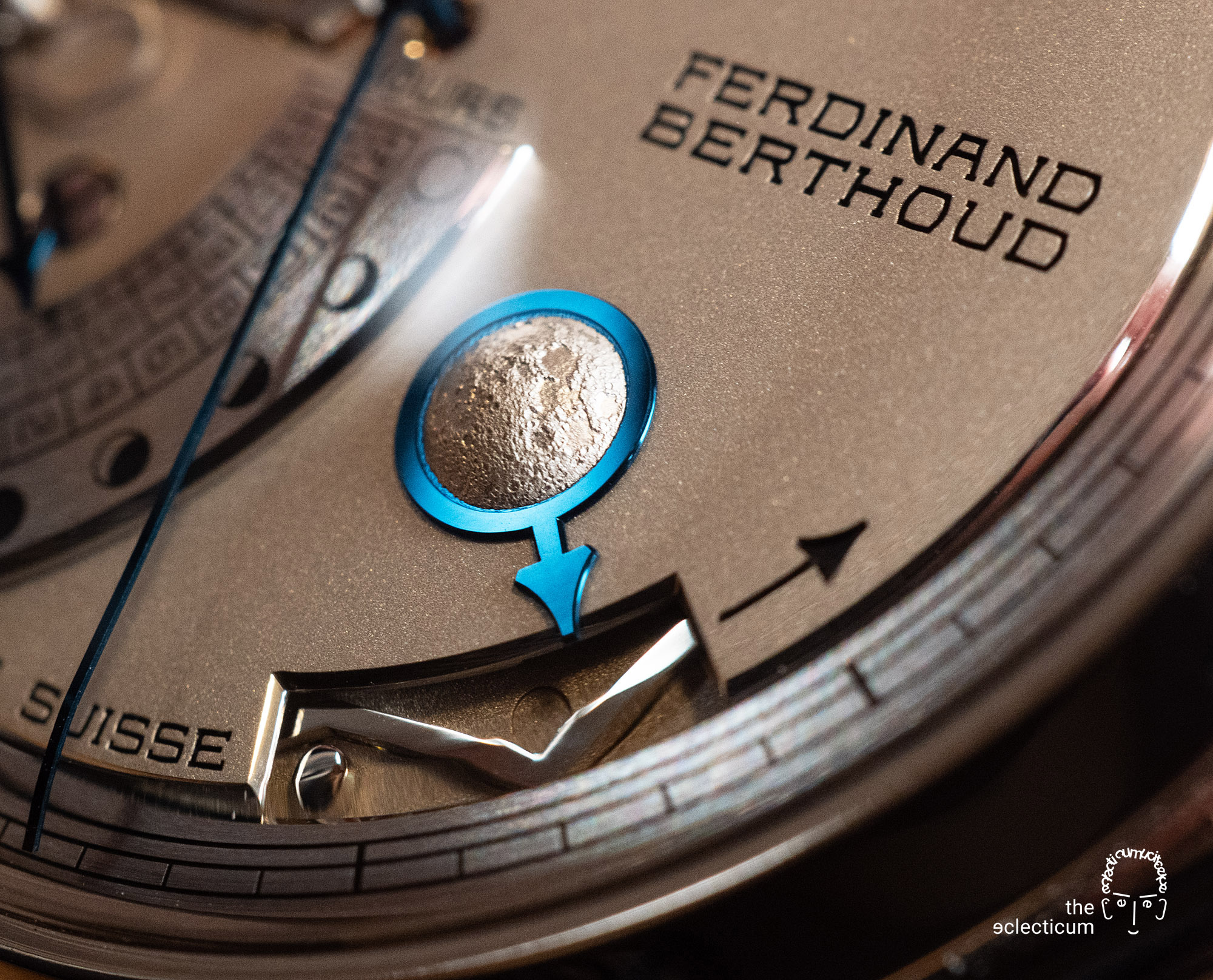 Ferdinand Berthoud Chronometry FB 1L chronometer dial heatblued steel hands moon phase