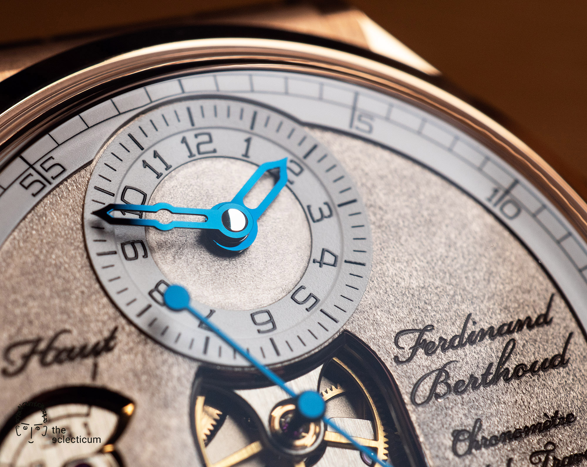 Ferdinand Berthoud Chronometry FB 1 œuvre oeuvre d'or chronometer dial heatblued steel hands