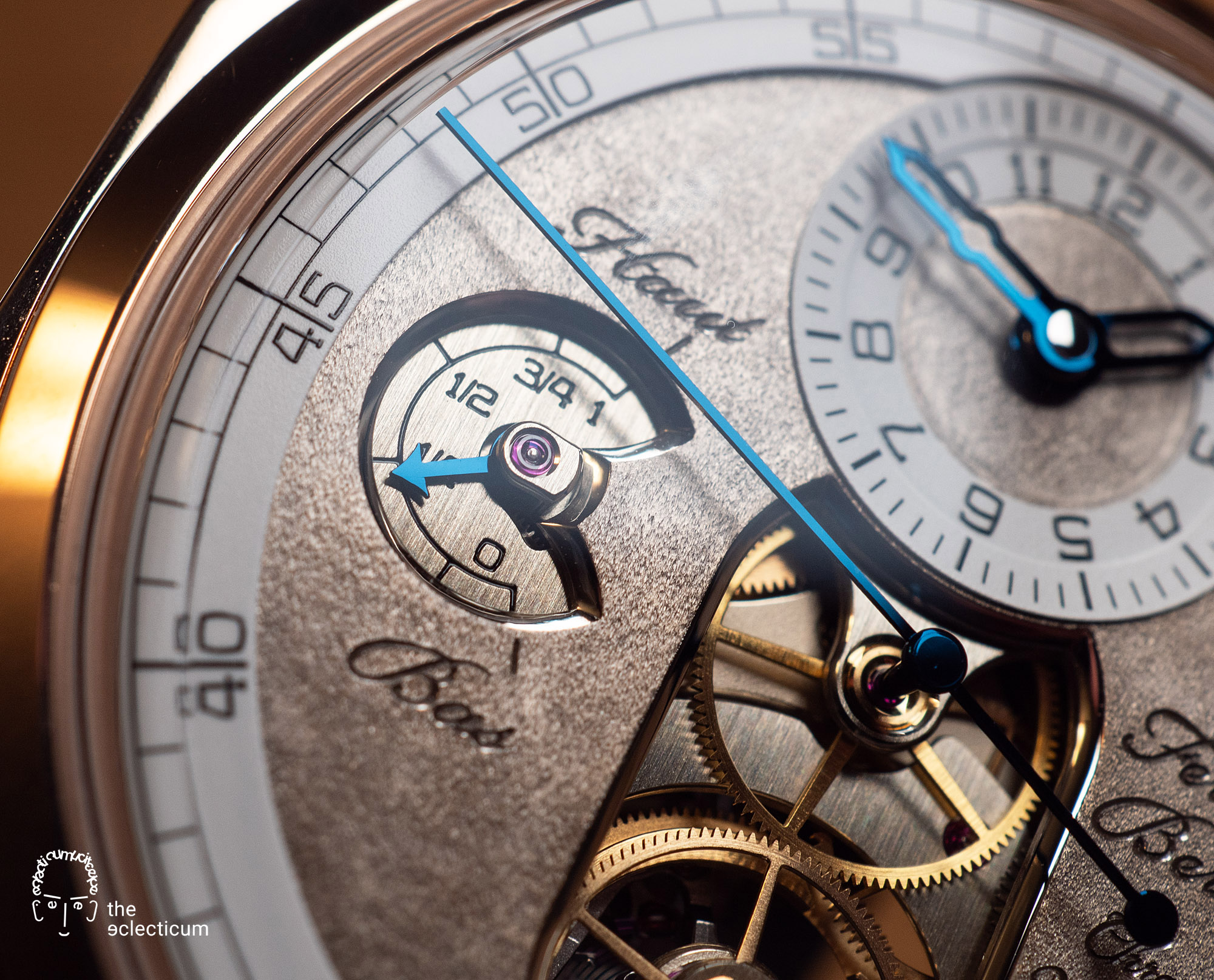 Ferdinand Berthoud Chronometry FB 1 œuvre oeuvre d'or chronometer dial heatblued steel hands power reserve