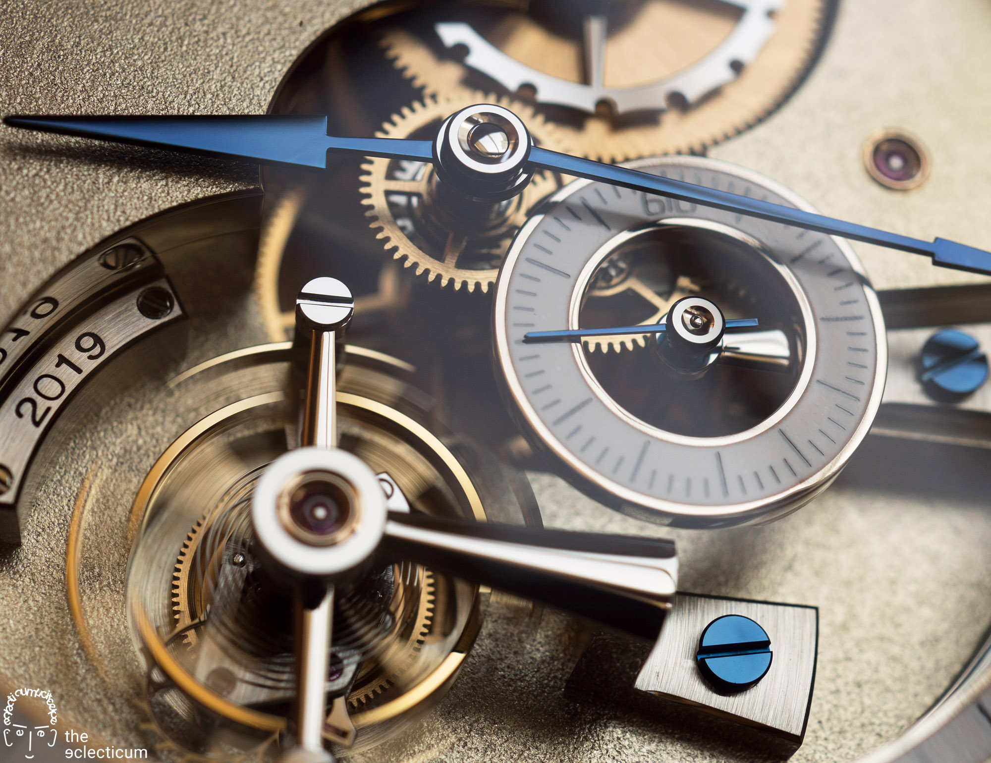 Greubel Forsey Hand Made 1 dial hands heat-blued