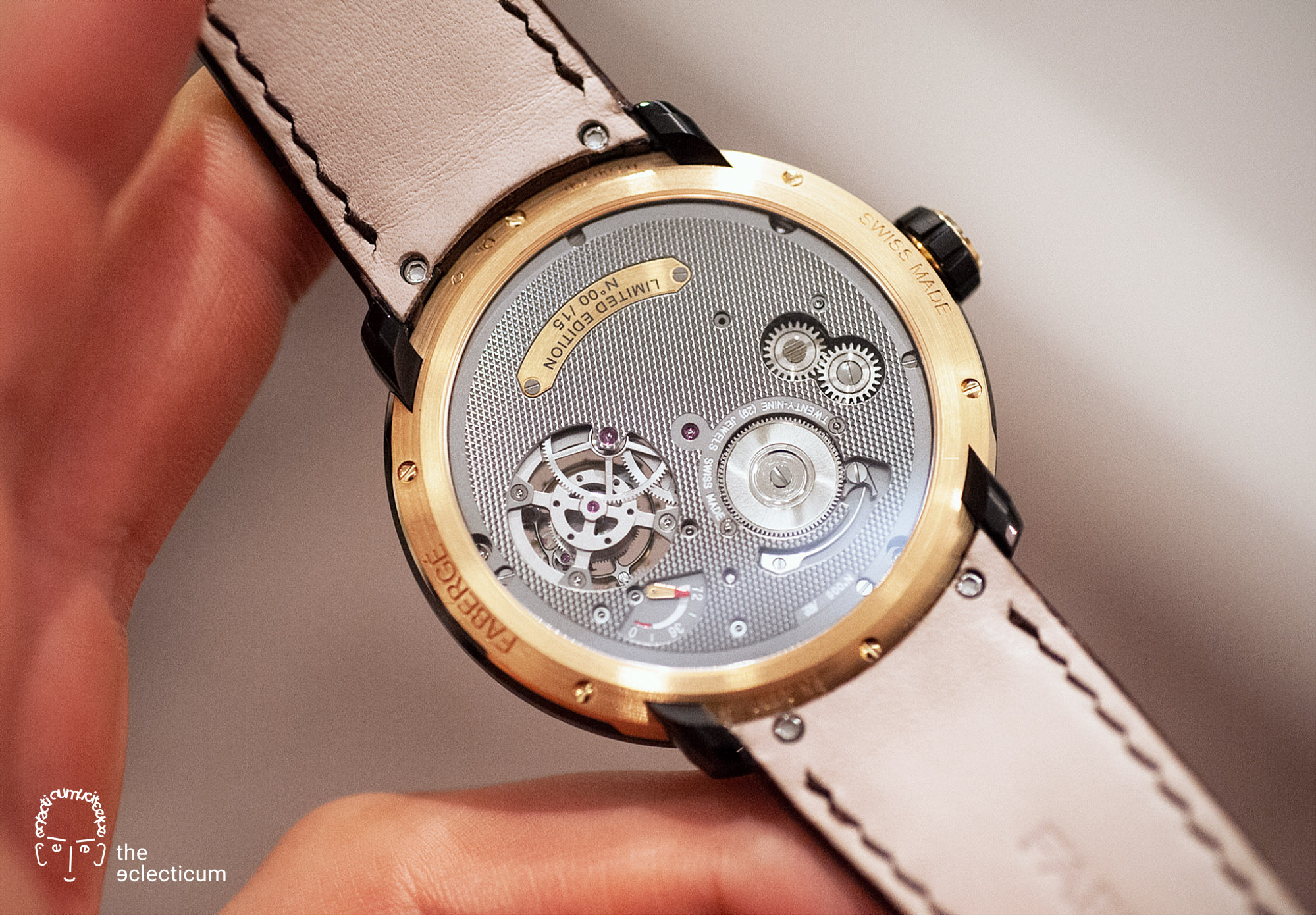 Faberge Visionnaire Tourbillon flying Renaud Papi guillochage movement Cal. TOF14
