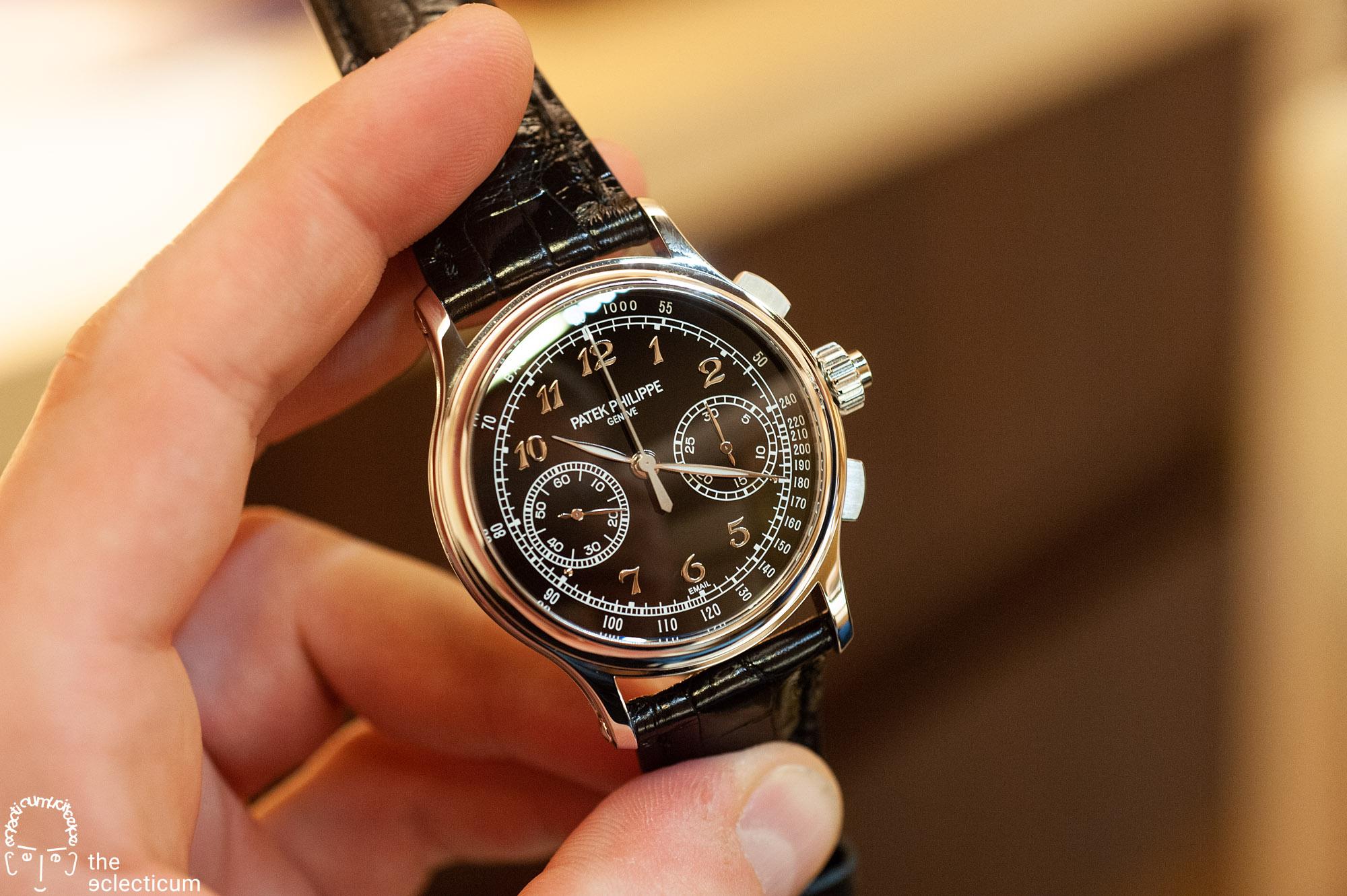 Patek Philippe Split seconds chronograph rattrapante 5370P enamel