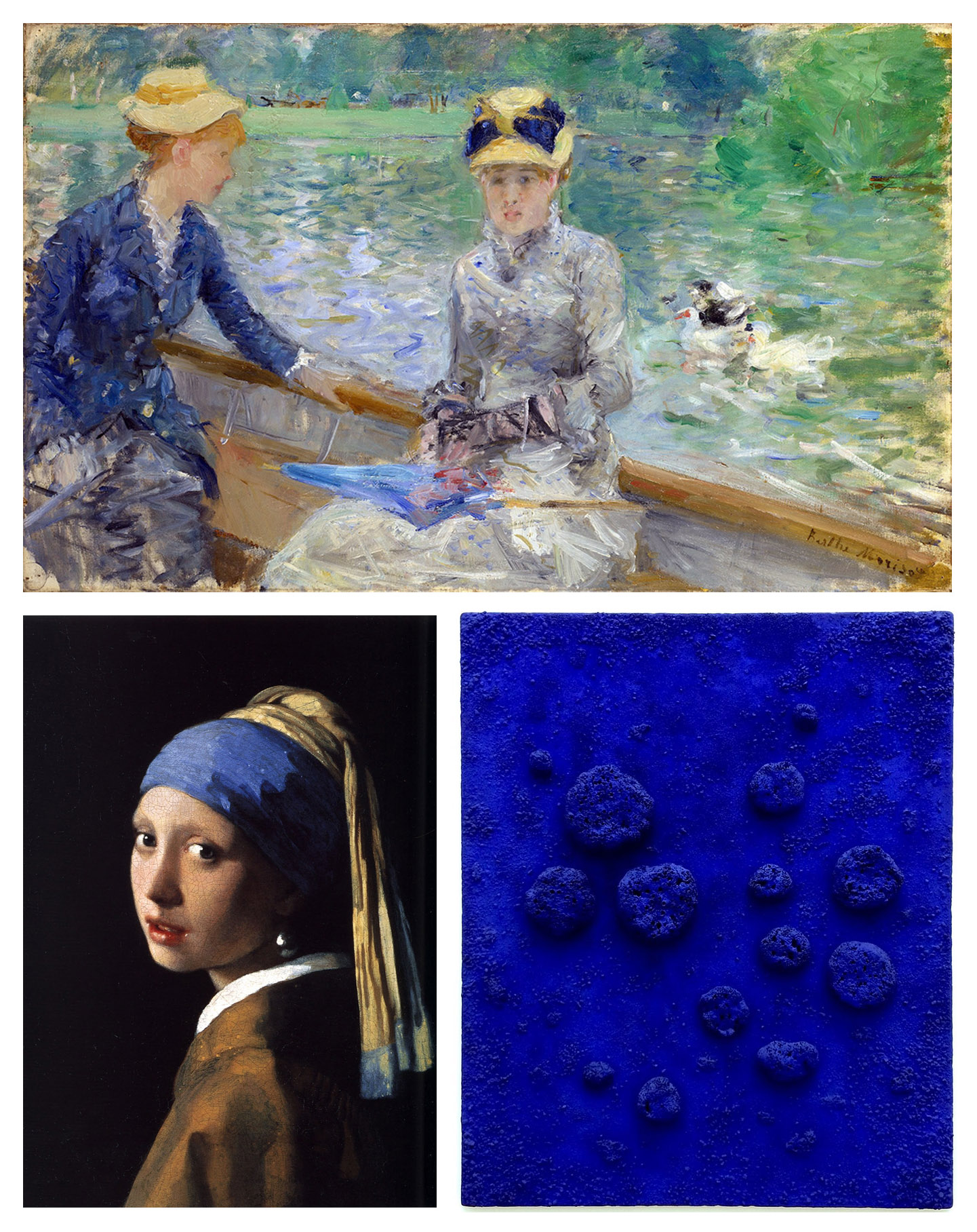 Shades of Blue Ultra Marine Johannes Vermeer Cerulean Berthe Morisot International Klein Blue Yves