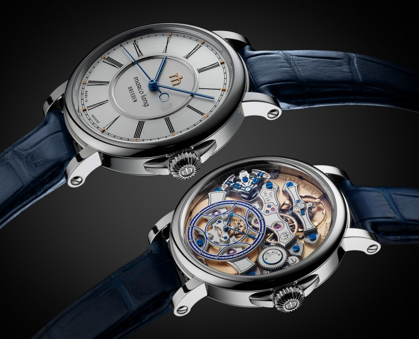 Marco Lang presents his first watch in the ´Zweigesicht` series and is called ´Zweigesicht-1` a changeable watch with two faces, with a new complication ´shock-indication` … - inspired by fine watchmaking from Saxony (Germany), 18th and 19th century.