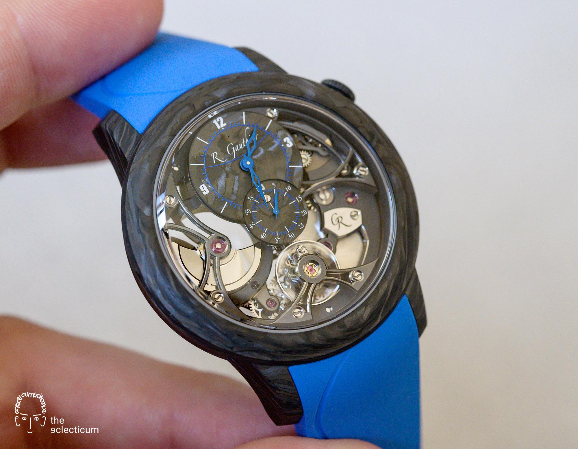 Romain Gauthier Insight Micro-Rotor Squelette Carbonium blue