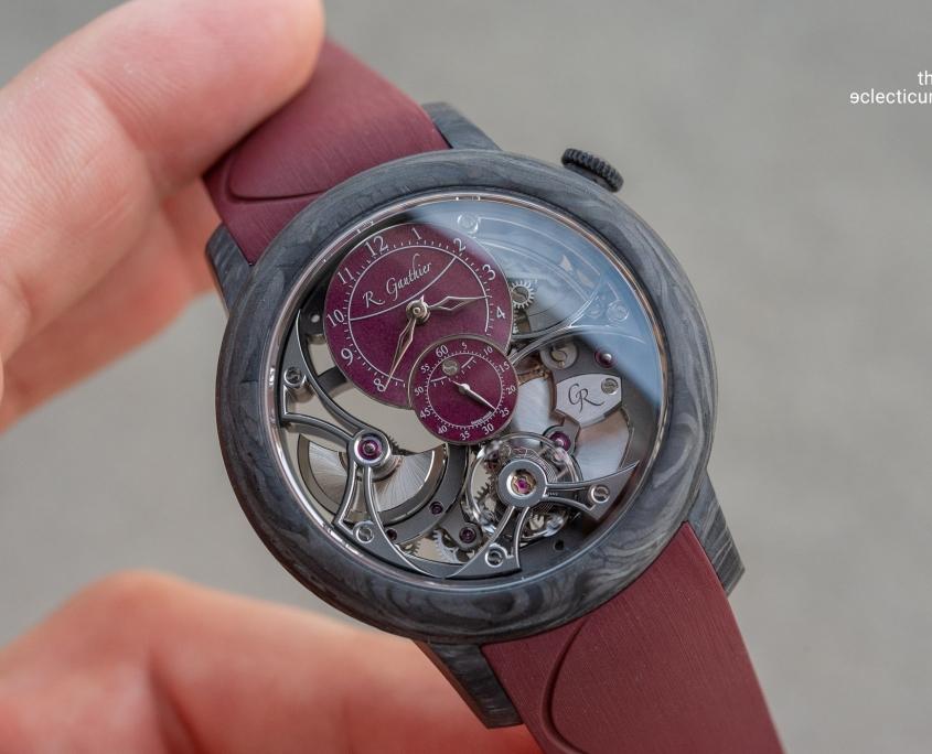 Romain Gauthier Insight Micro-Rotor Squelette Carbonium burgundy