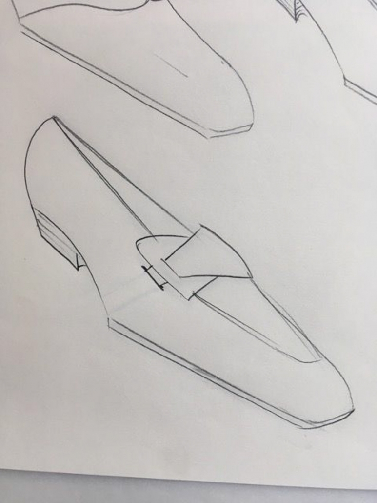sketches bespoke butterfly loafers Leonard Kahlcke