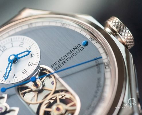 Ferdinand Berthoud Chronometry FB 1 chronometer dial heatblued steel hands
