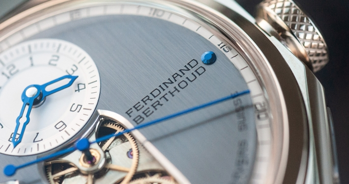 Ferdinand Berthoud Chronometry FB 1 chronometer dial heatblued steel hands