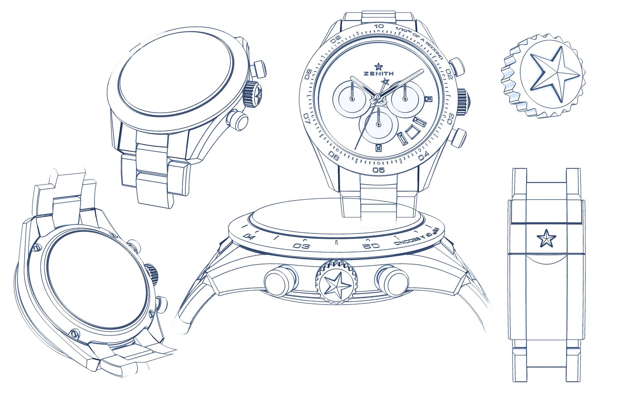 Zenith Chronometer Sport automatic chronograph El Primero Cal. 3600