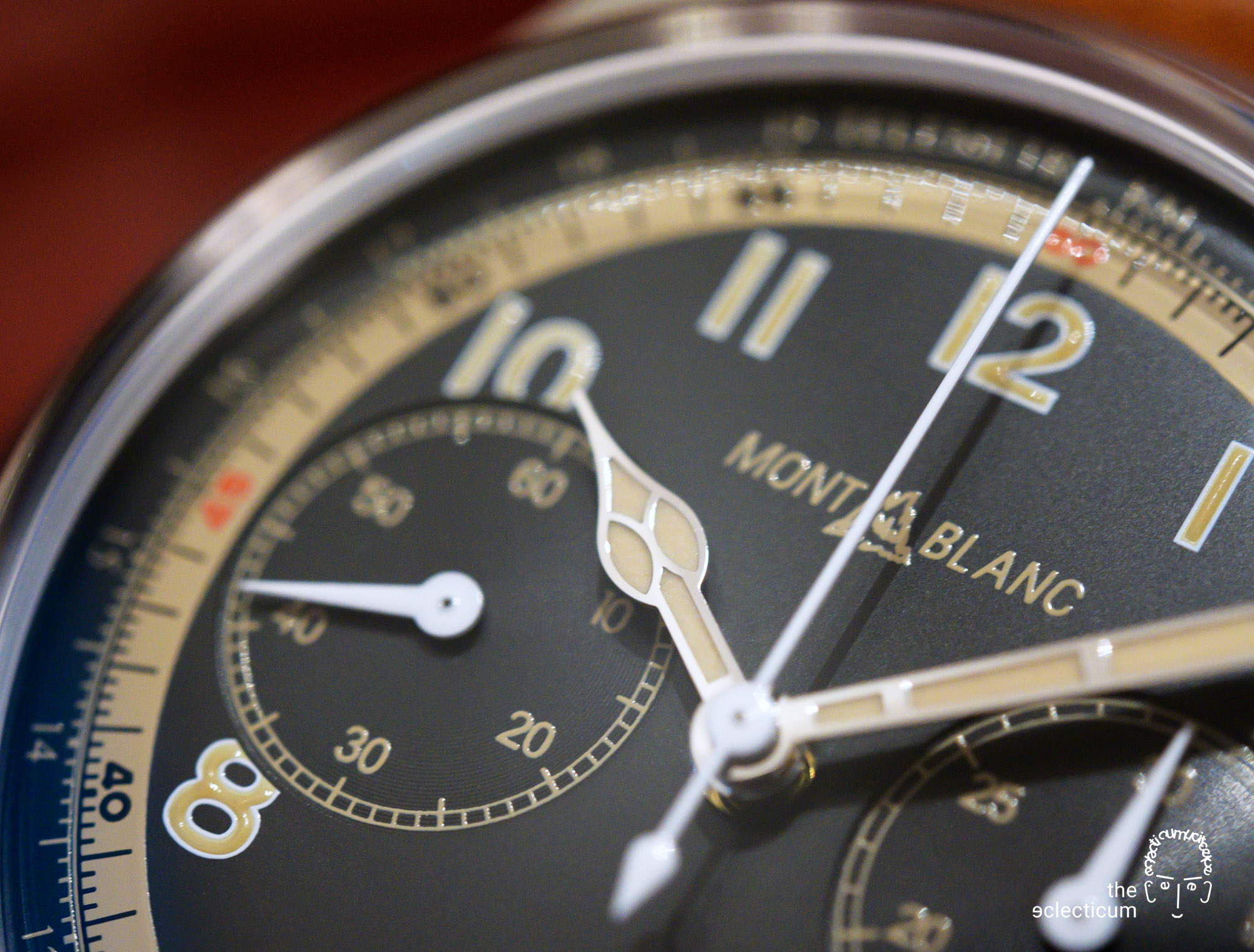 Montblanc 1858 Monopusher Chronograph automatic dial detail