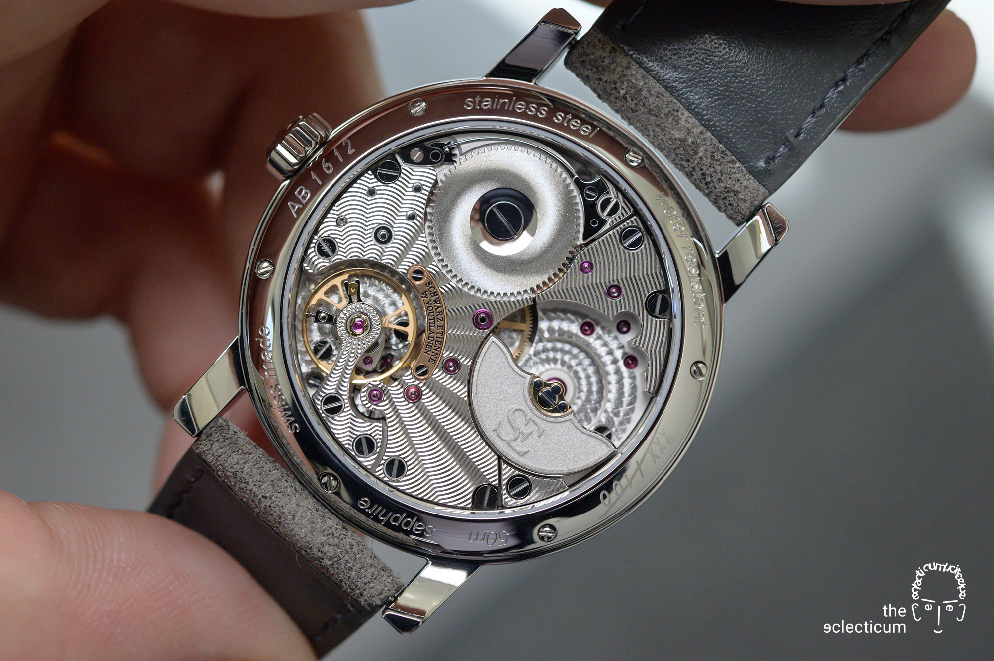 Schwarz Etienne Roma Synergy by Kari Voutilainen guilloche micro-rotor manufacture ASE200.00