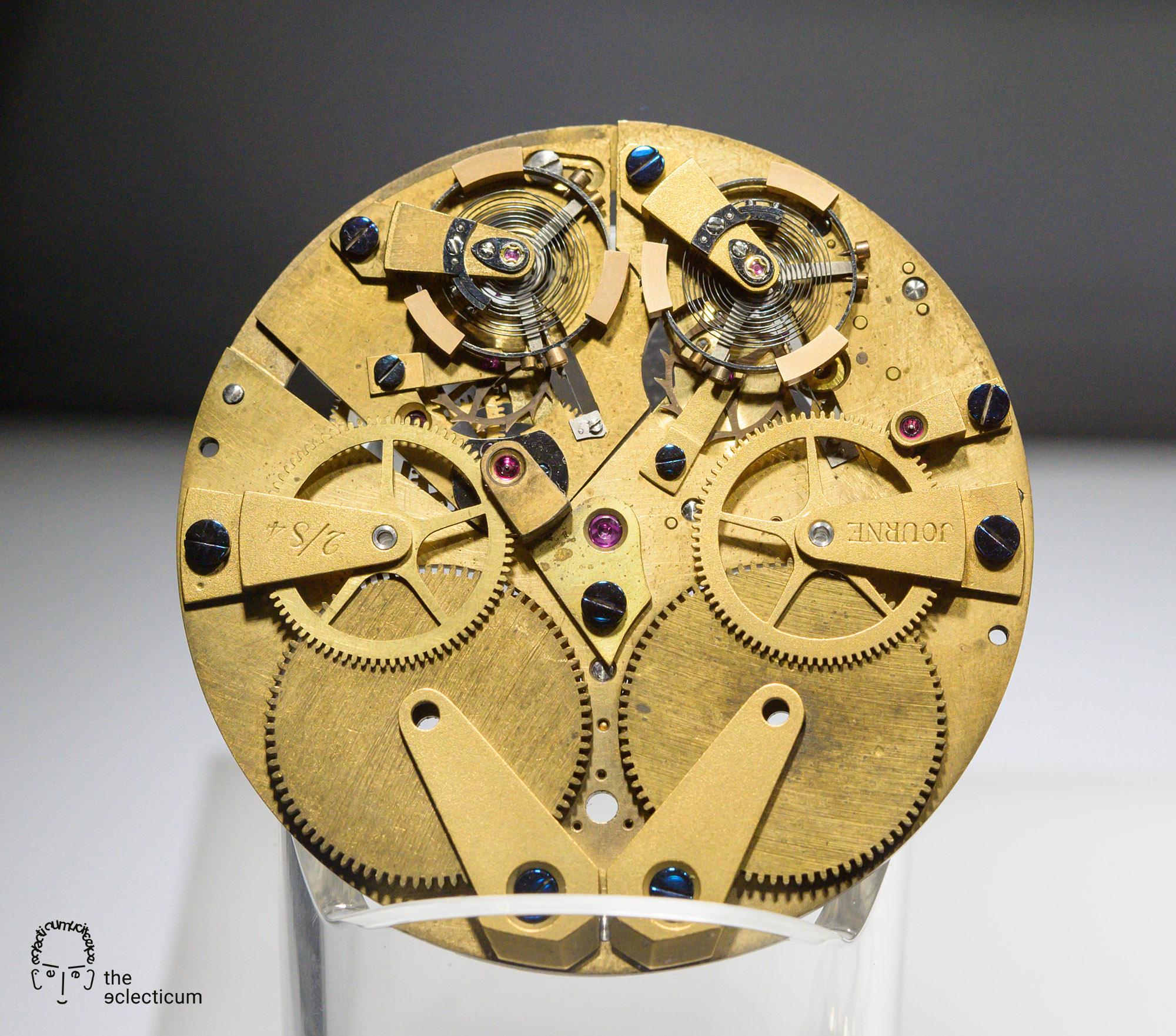 François-Paul Journe resonance pocket watch movement 1984
