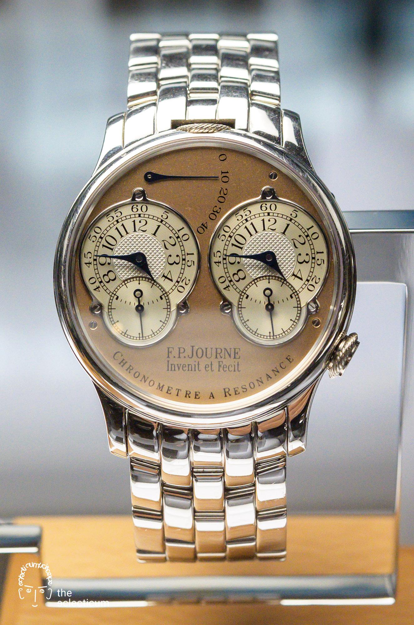 Francois-Paul Journe Chronomètre à Résonance Series 1 platinum bracelet Gabriel Tortella