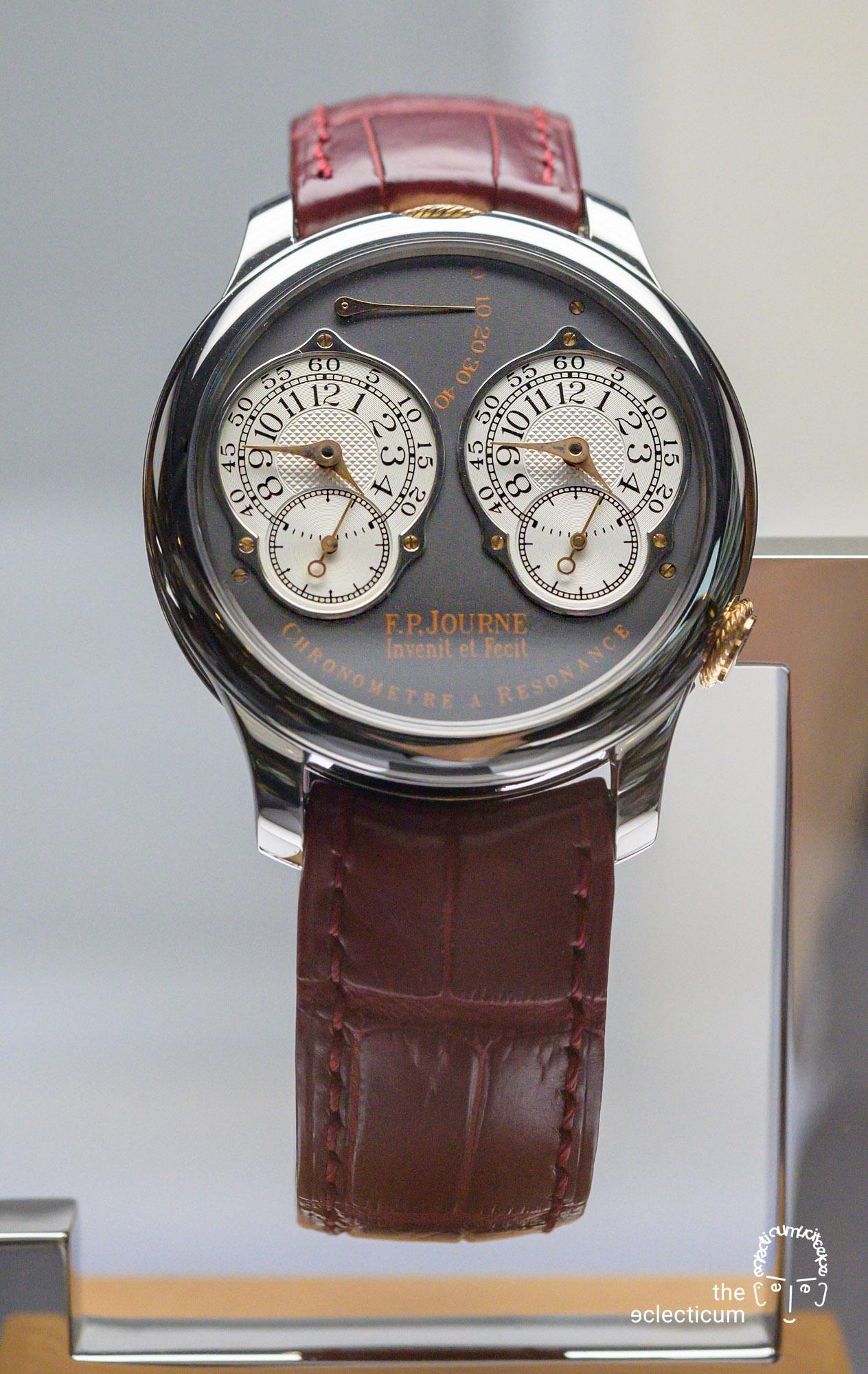 Francois-Paul Journe Chronomètre à Résonance Series 2 Tokyo Boutique Ruthenium dial titaniium