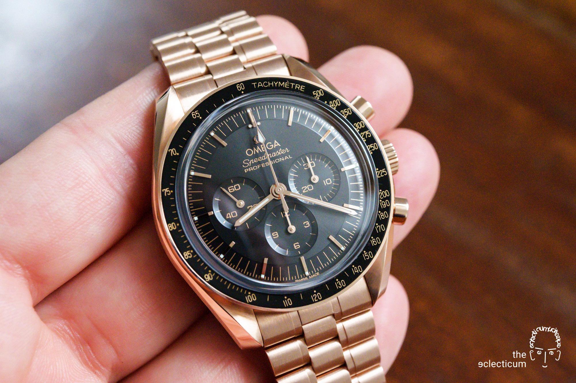 Omega Speedmaster Moonwatch Cal. 3861 Sedna Gold