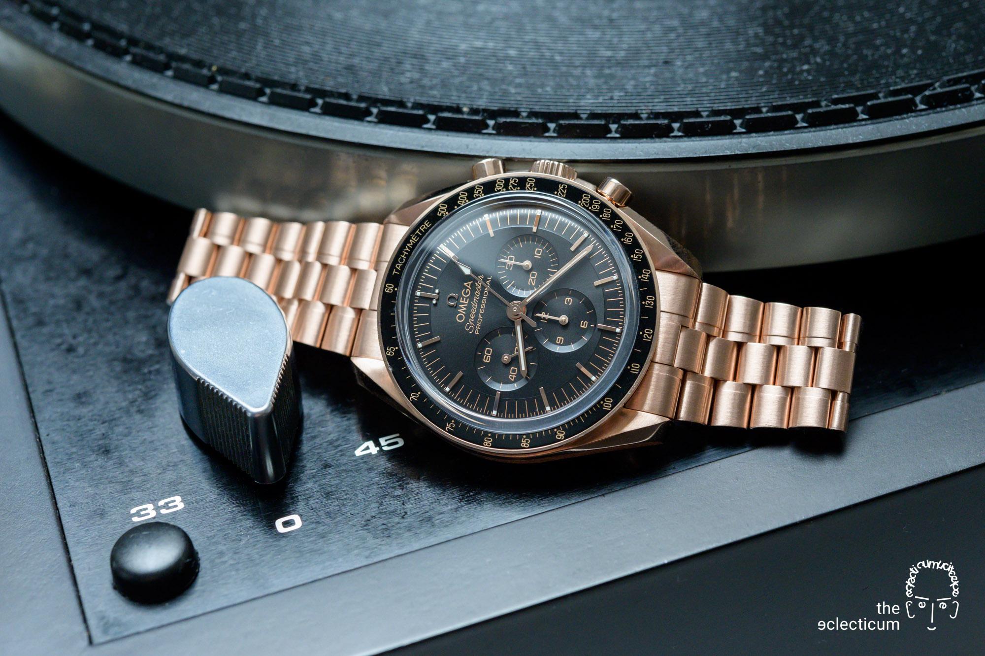 Omega Speedmaster Moonwatch Cal. 3861 Thorens record player
