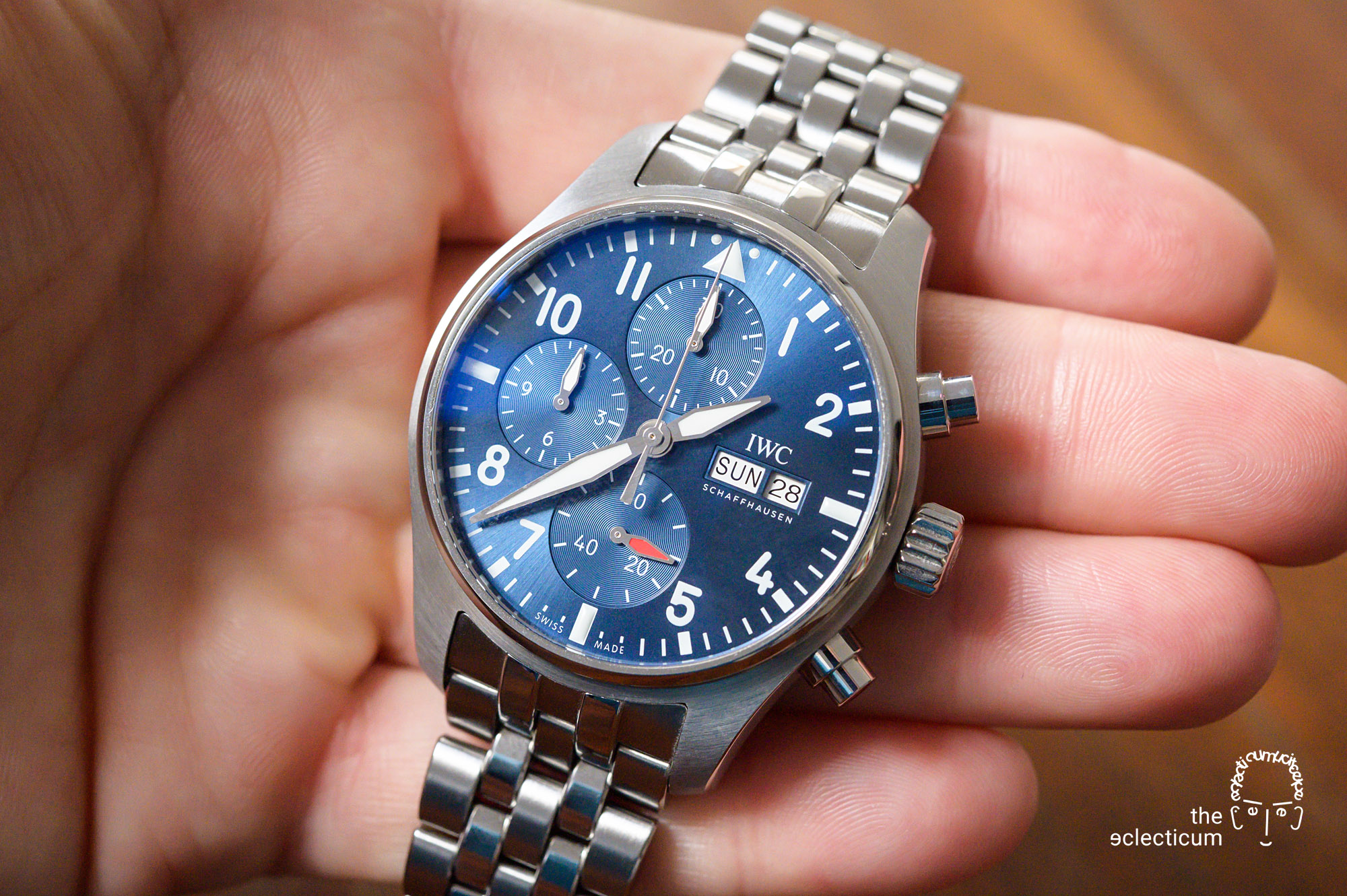 IWC Pilot's Chronograph 41mm automatic 3881 chronograph in-house EasX-CHANGE quick release bracelet