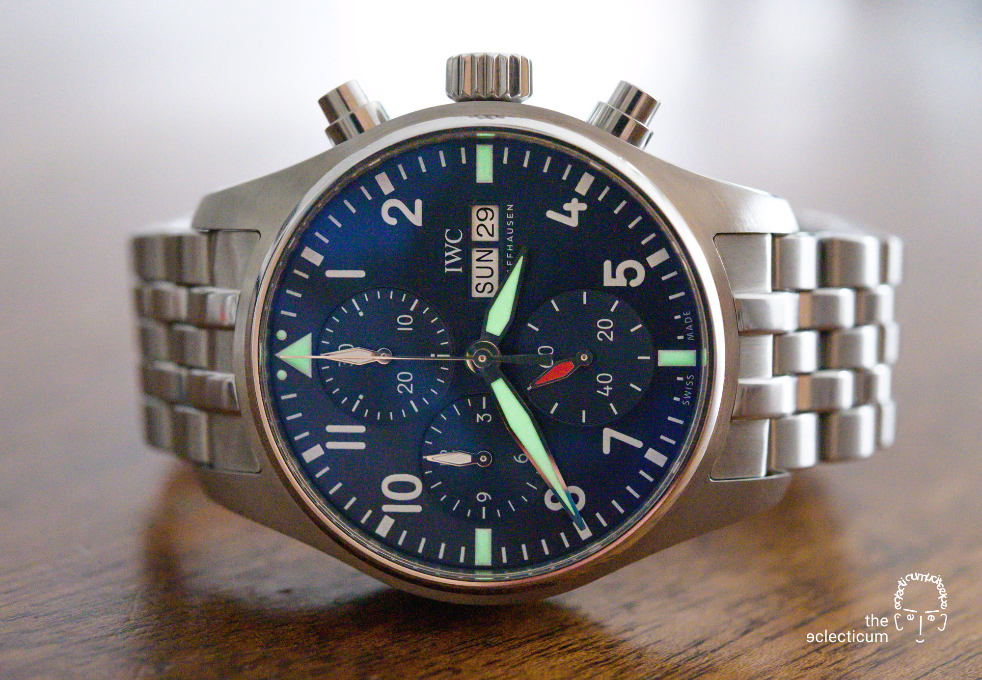 IWC Pilot's Chronograph 41mm automatic 3881 chronograph in-house lumeshot