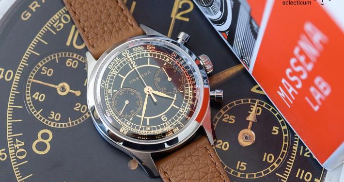 Massena Lab Archetype 0.0 gilt dial sellita SW 510 M William Rohr chronograph