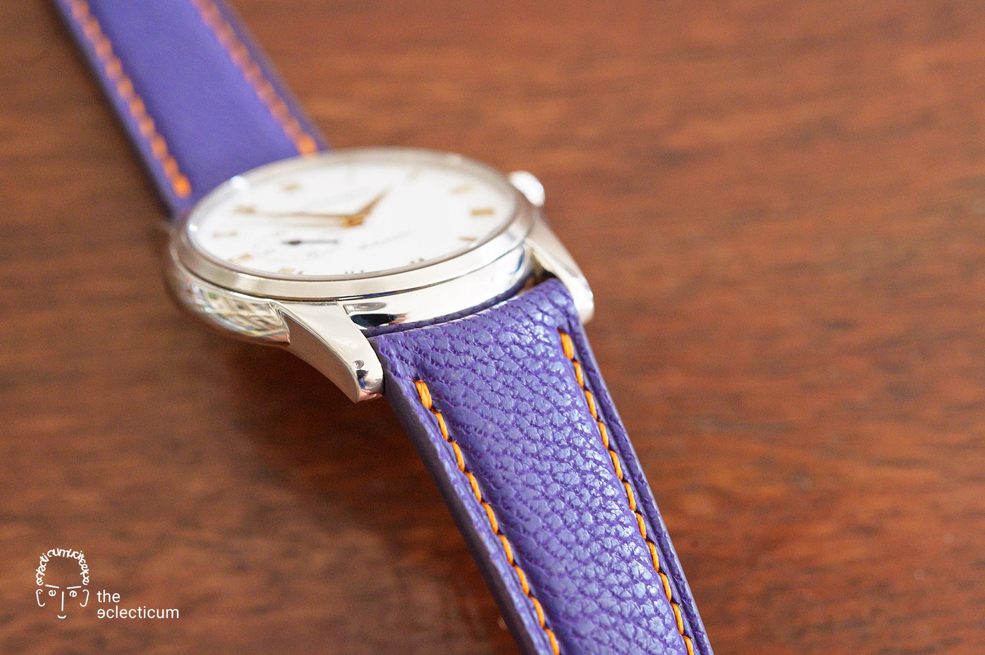 Girard Perregaux Classique Elegance Ref. 90500 Heima bepsoke strap japanese goat leather