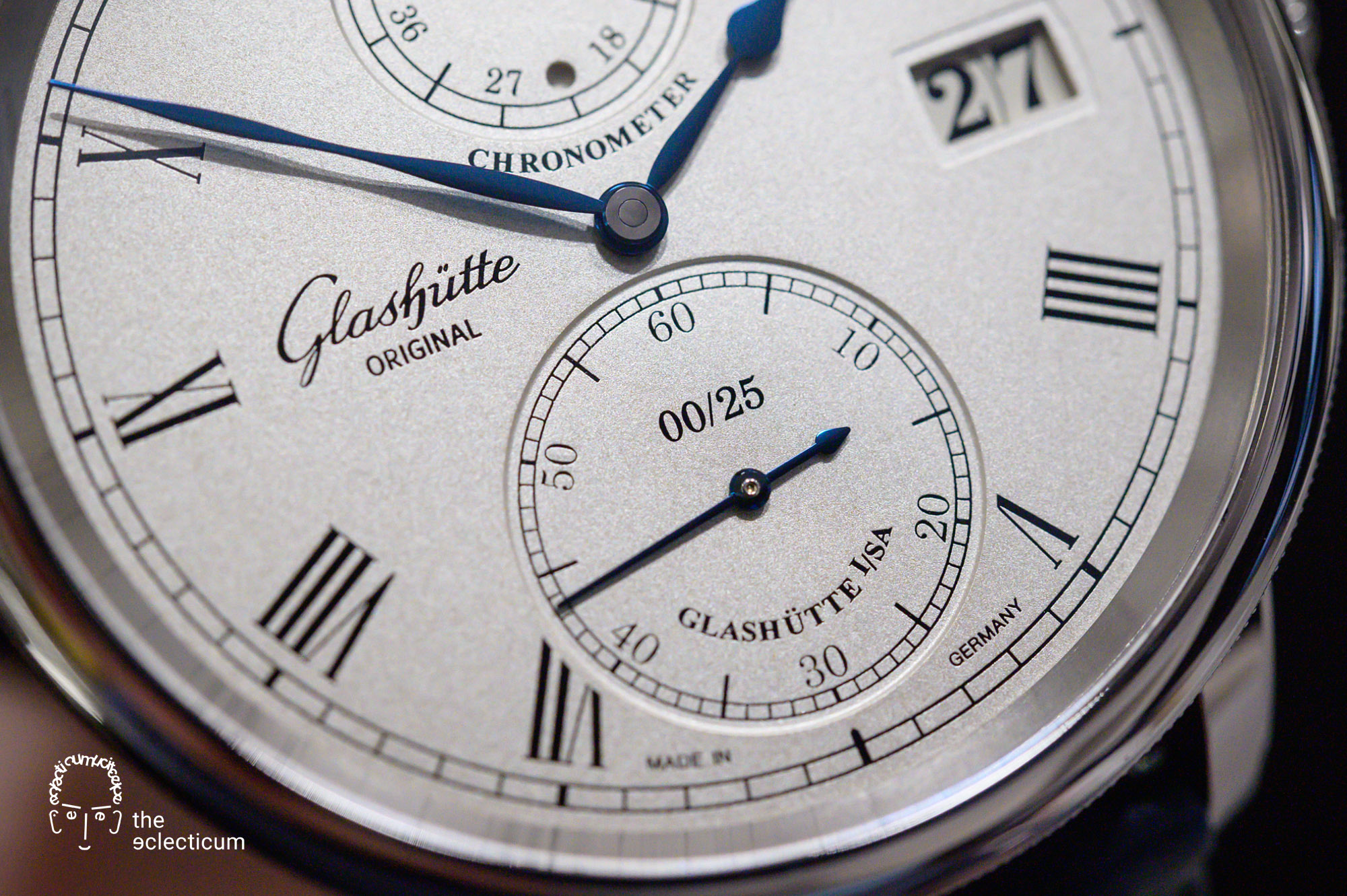 Glashütte Original Senator Limited Edition 2020 silver friction plated dial