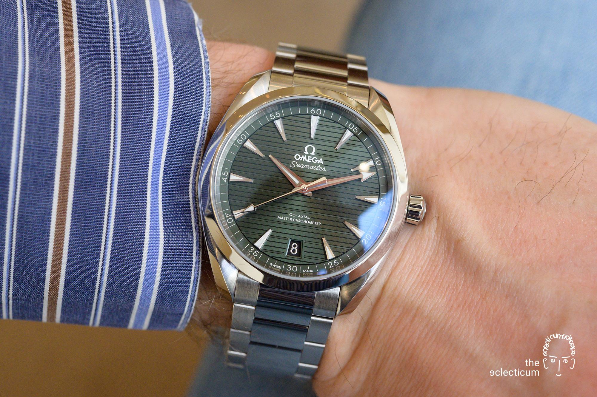 OMEGA Seamaster Aqua Terra green wristshot