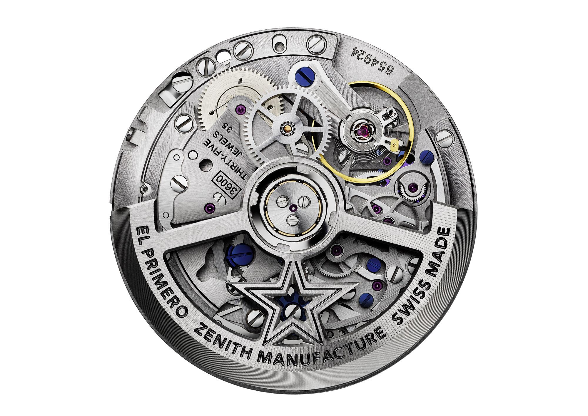 Zenith El Primero 3600 automatic chronograph movement