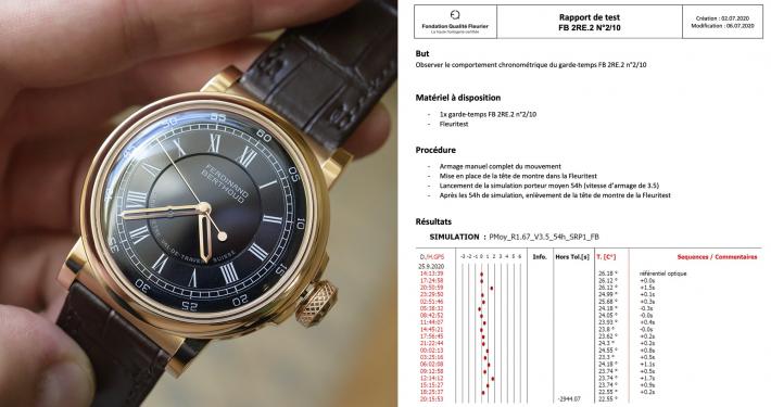 Ferdinand Berthoud Chronometer Chronometre FB 2.RE hand wound constant force fusee chain remontoir enamel dial