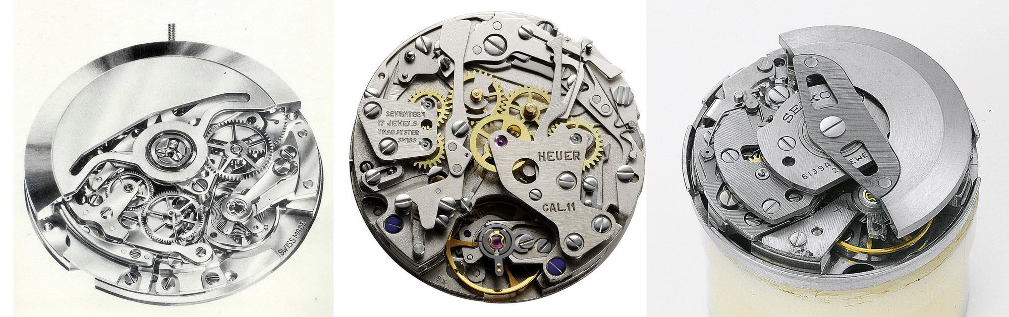 First automatic Chronographs Zenith 400 Buren Cal. 11 Seiko 6139
