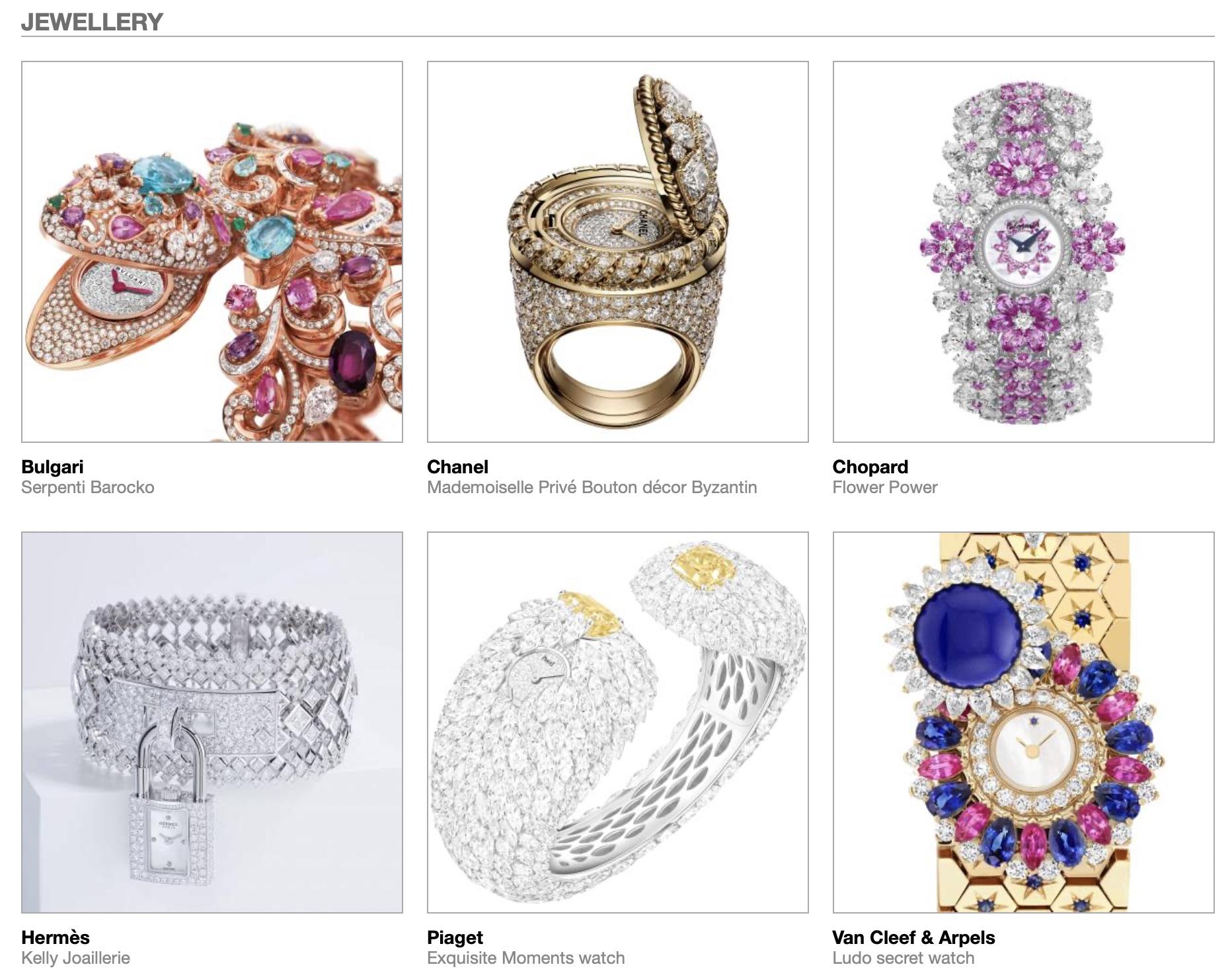 GPHG 2021 Nominees Jewellery