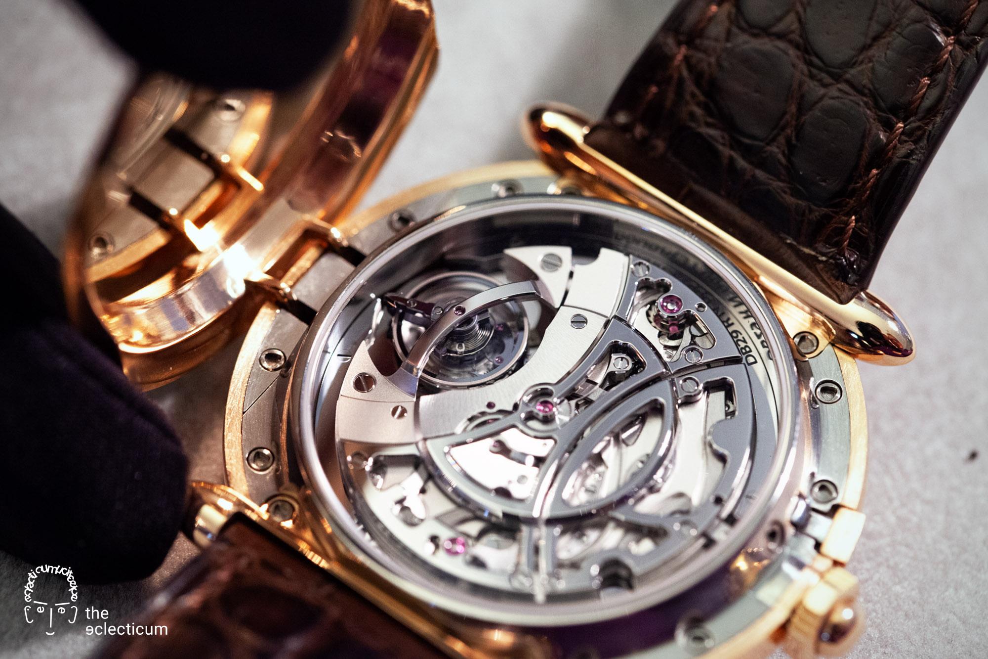 De Bethune DB29 MaxiChrono Tourbillon chronograph central stack manufacture movement Cal. DB2039