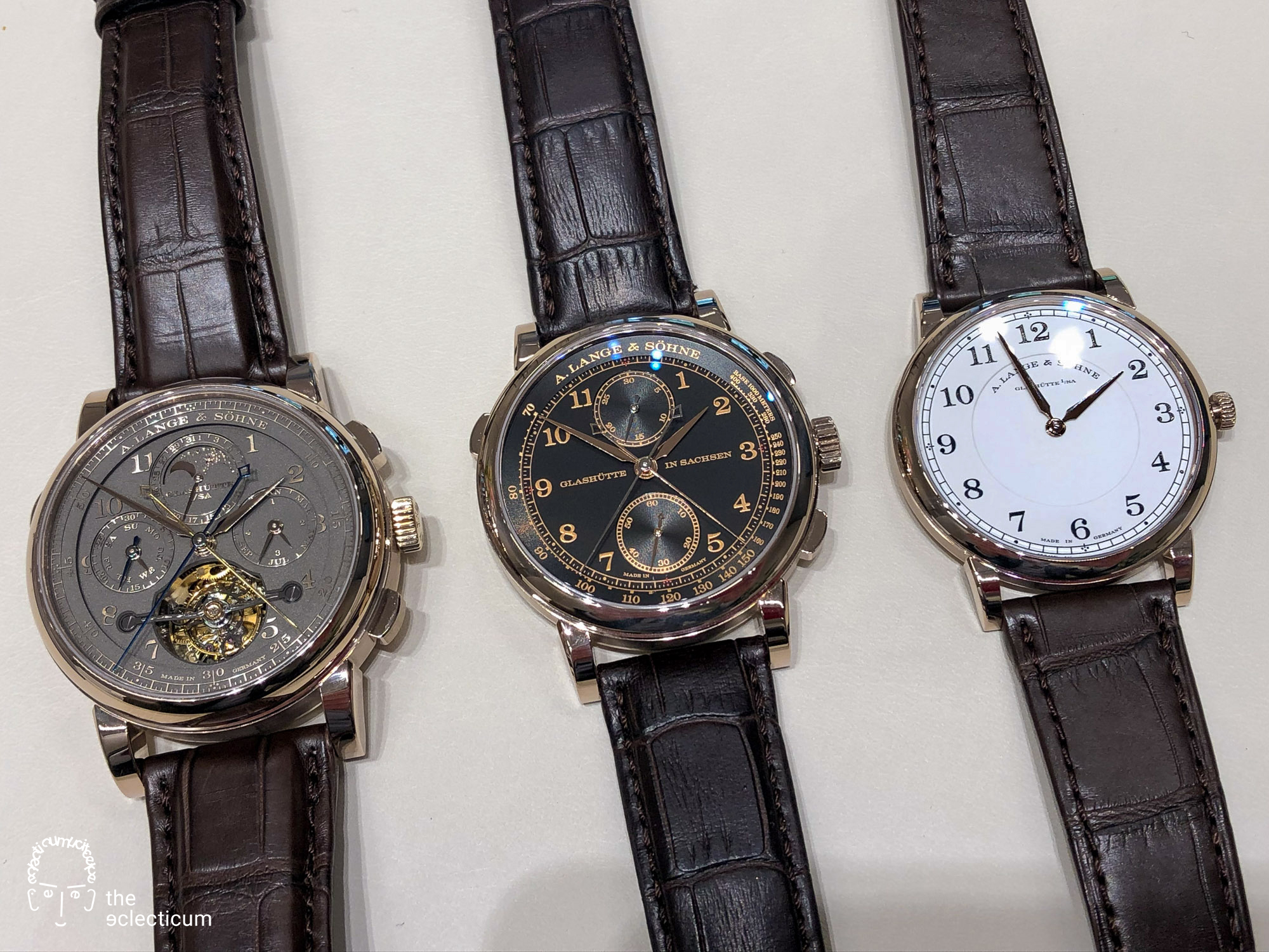 Homage to F. A. Lange 1815 Honeygold 175th anniversary limited editions