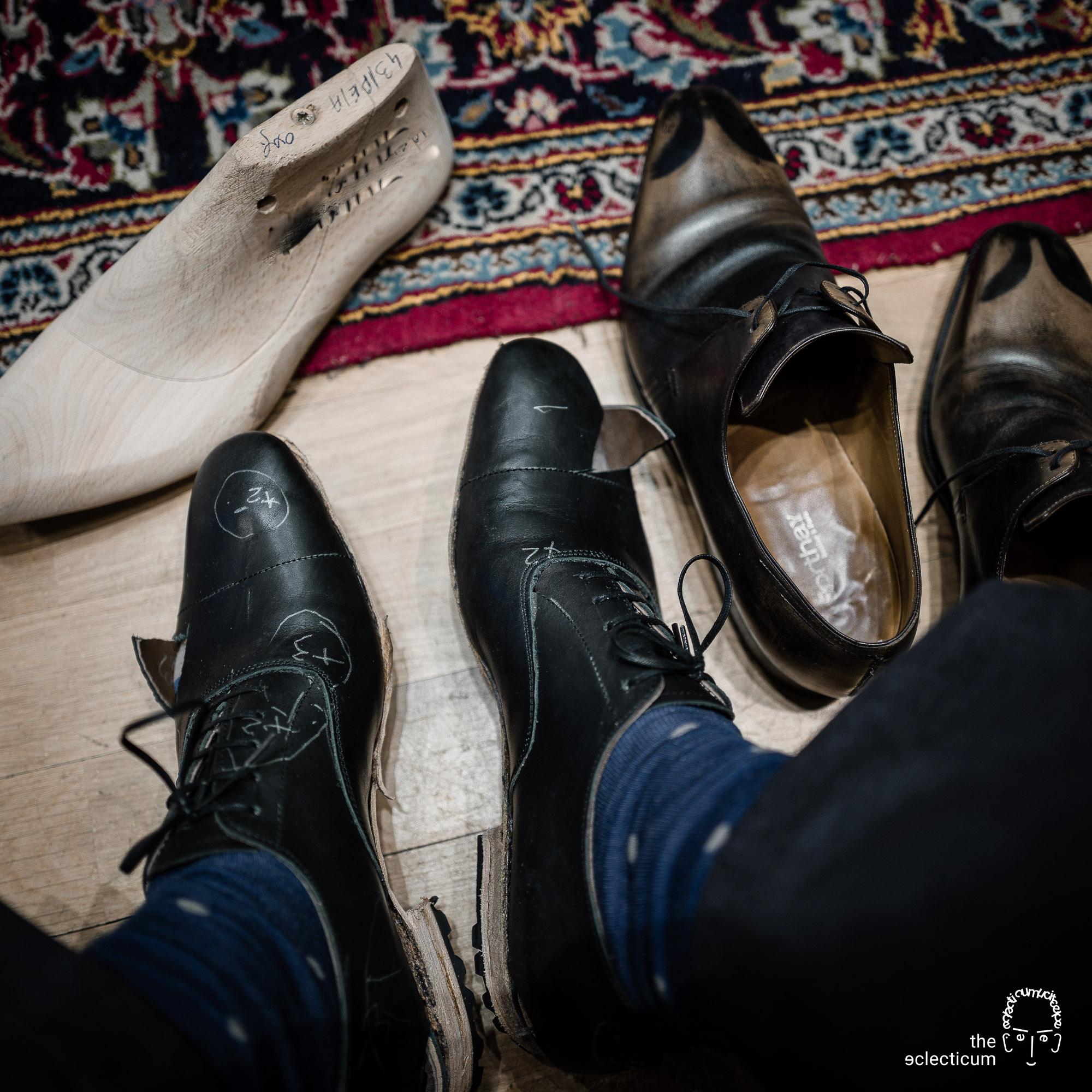 trial shoes bespoke last Leonard Kahlcke